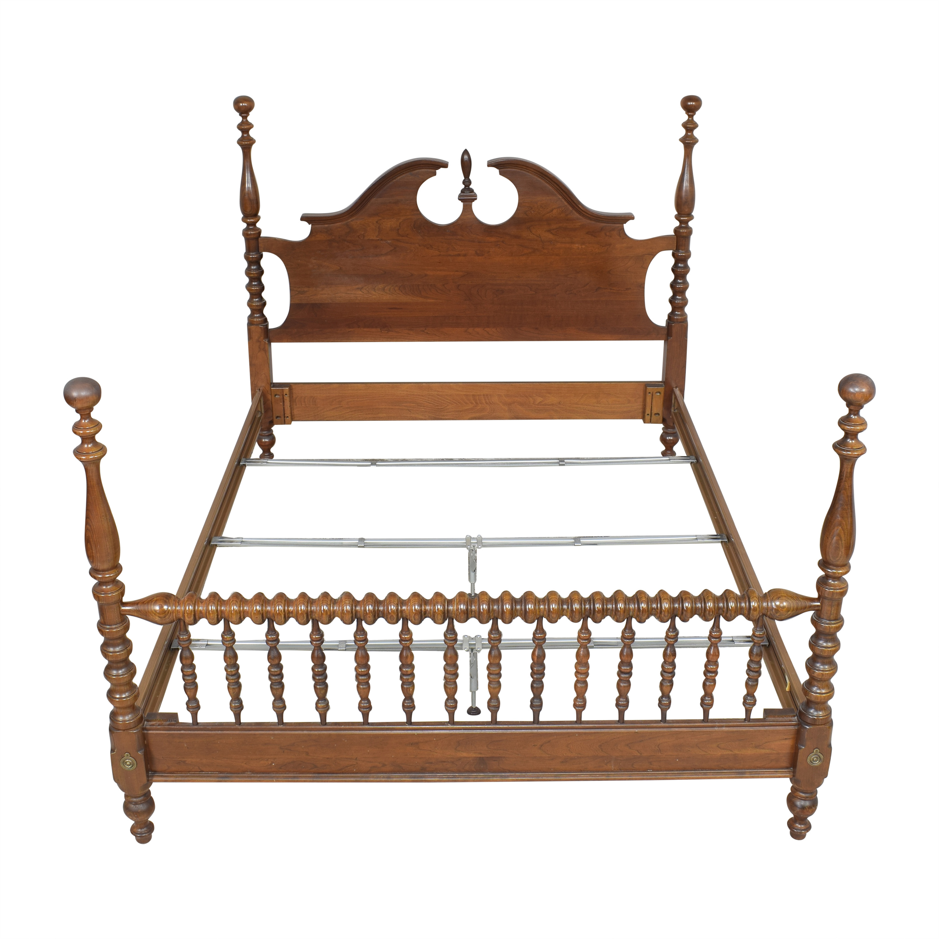 shop Chippendale-Style Poster Queen Bed  Beds