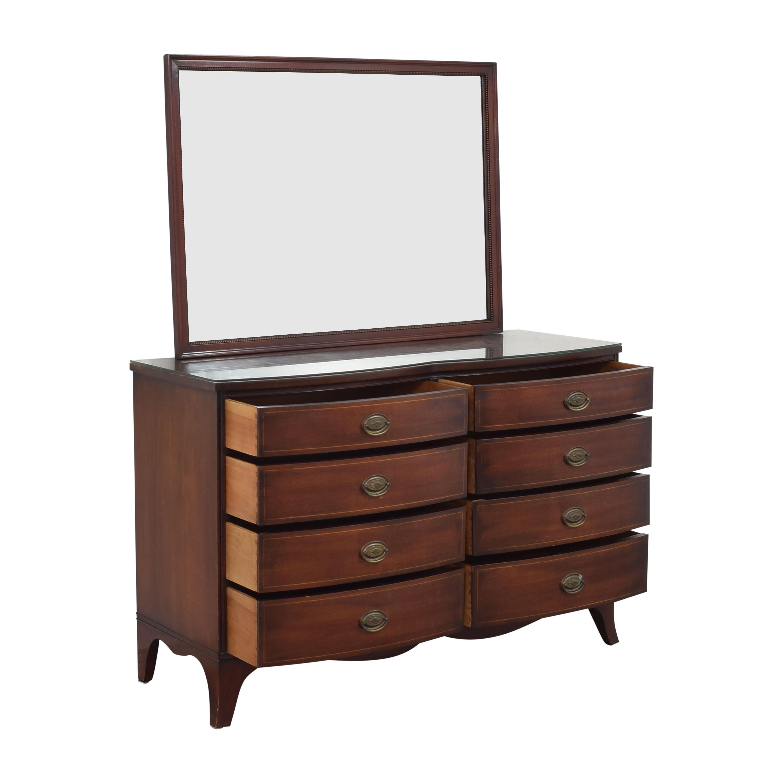 Drexel Drexel Travis Court Serpentine Dresser with Mirror discount
