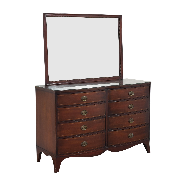 Drexel Drexel Travis Court Serpentine Dresser with Mirror
