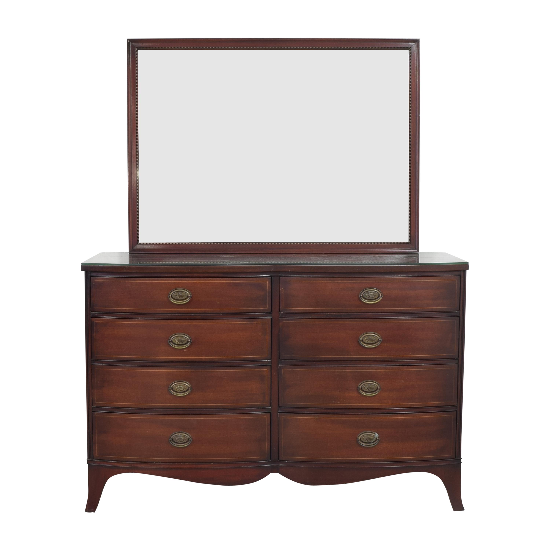 Drexel Drexel Travis Court Serpentine Dresser with Mirror pa