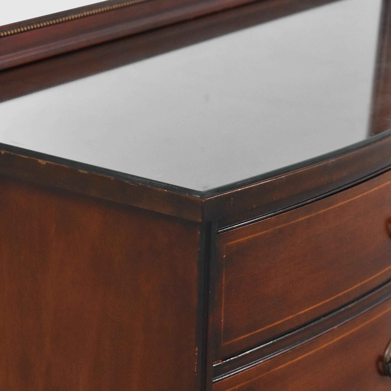 Drexel Drexel Travis Court Serpentine Dresser with Mirror nj