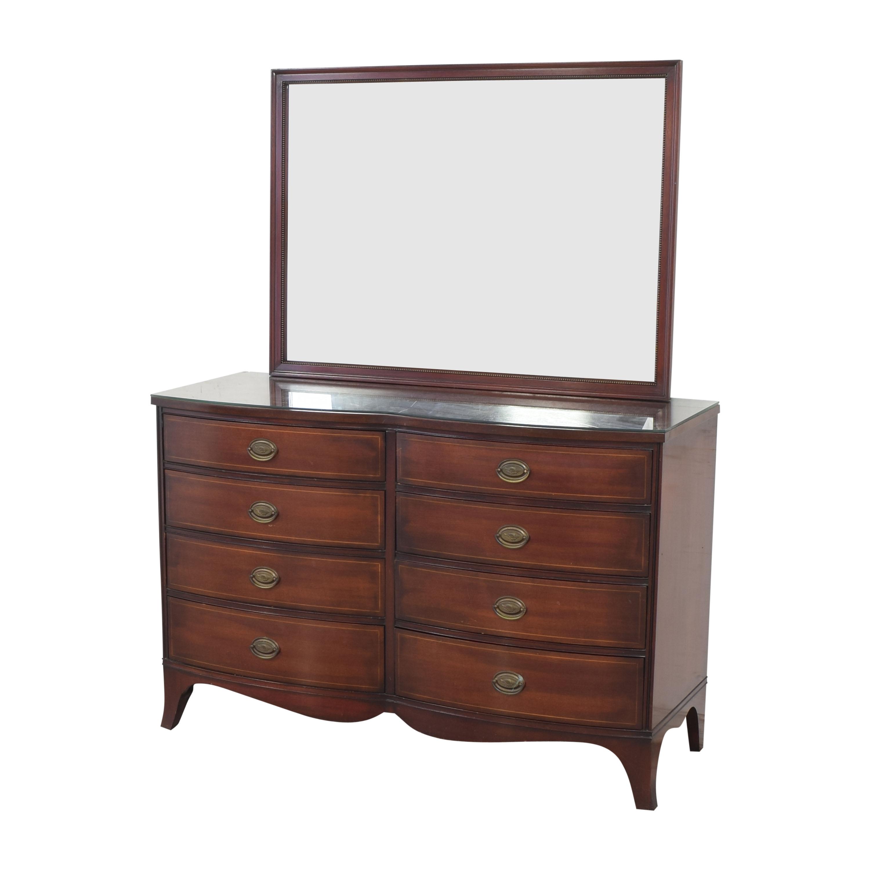 Drexel Drexel Travis Court Serpentine Dresser with Mirror Storage