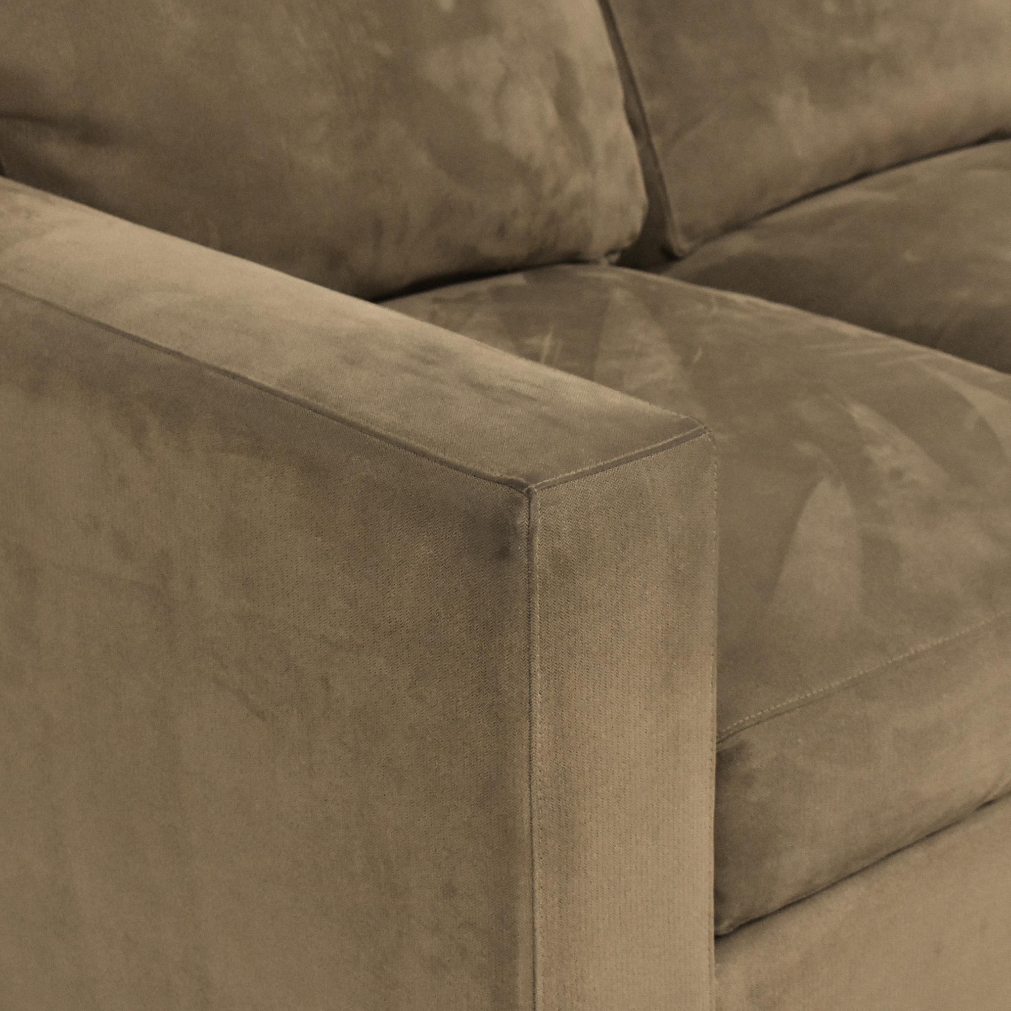 buy Crate & Barrel Axis Three Seat Sofa Crate & Barrel Classic Sofas