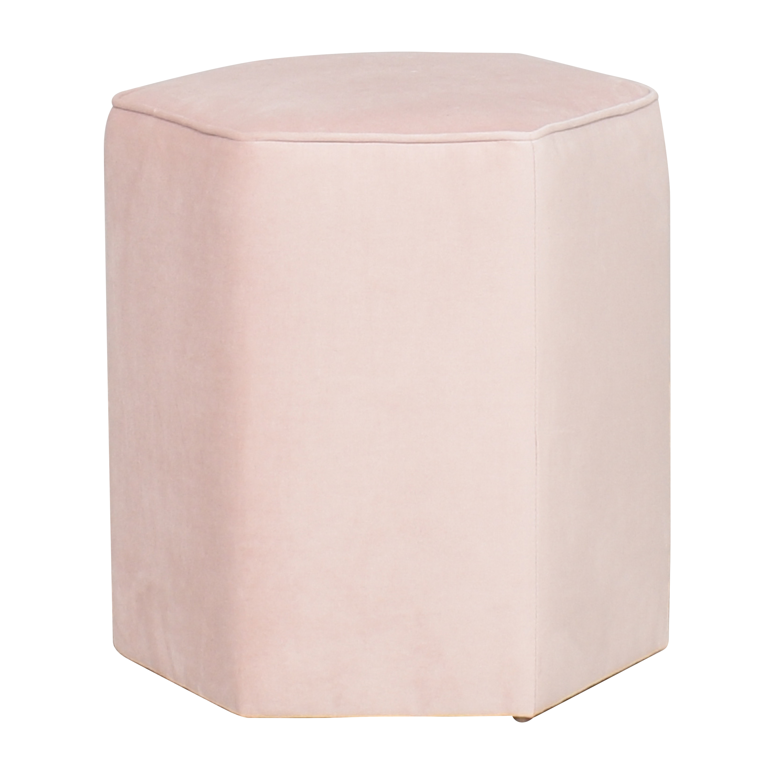 The Inside The Inside Hexagonal Ottoman light pink