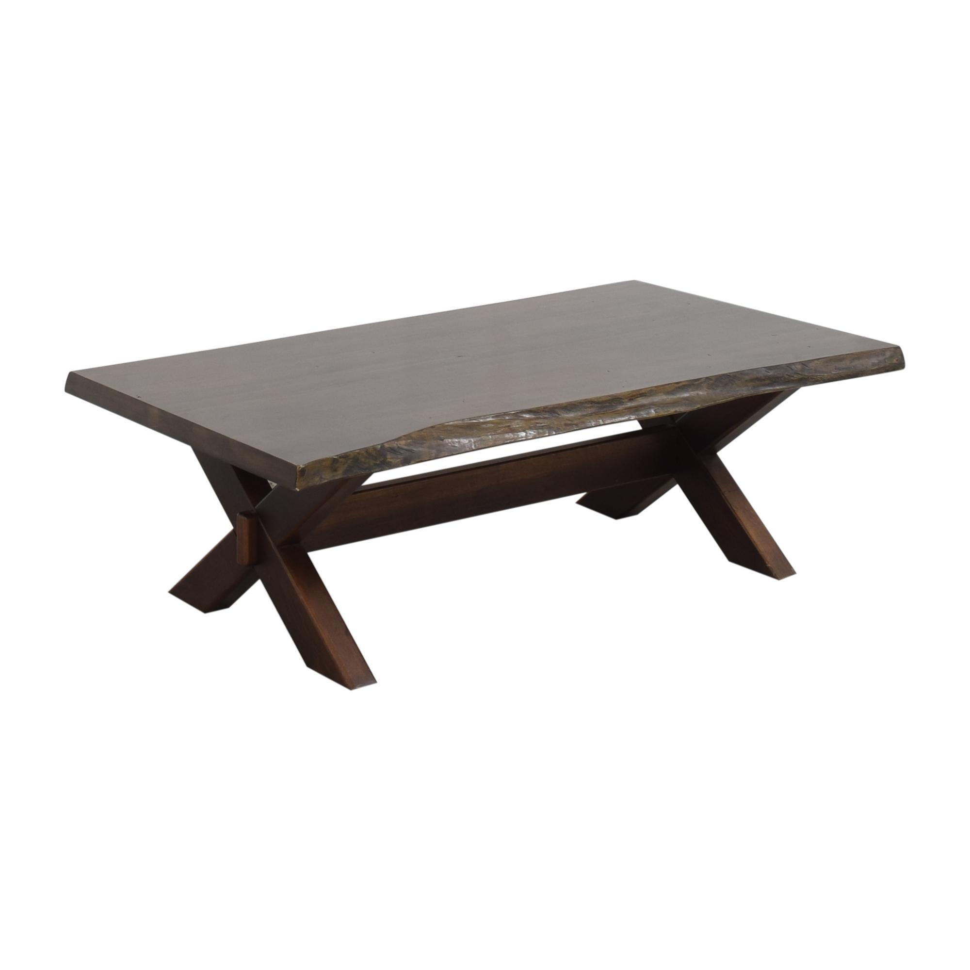 Bassett Furniture Crossbuck Live Edge Cocktail Table / Tables