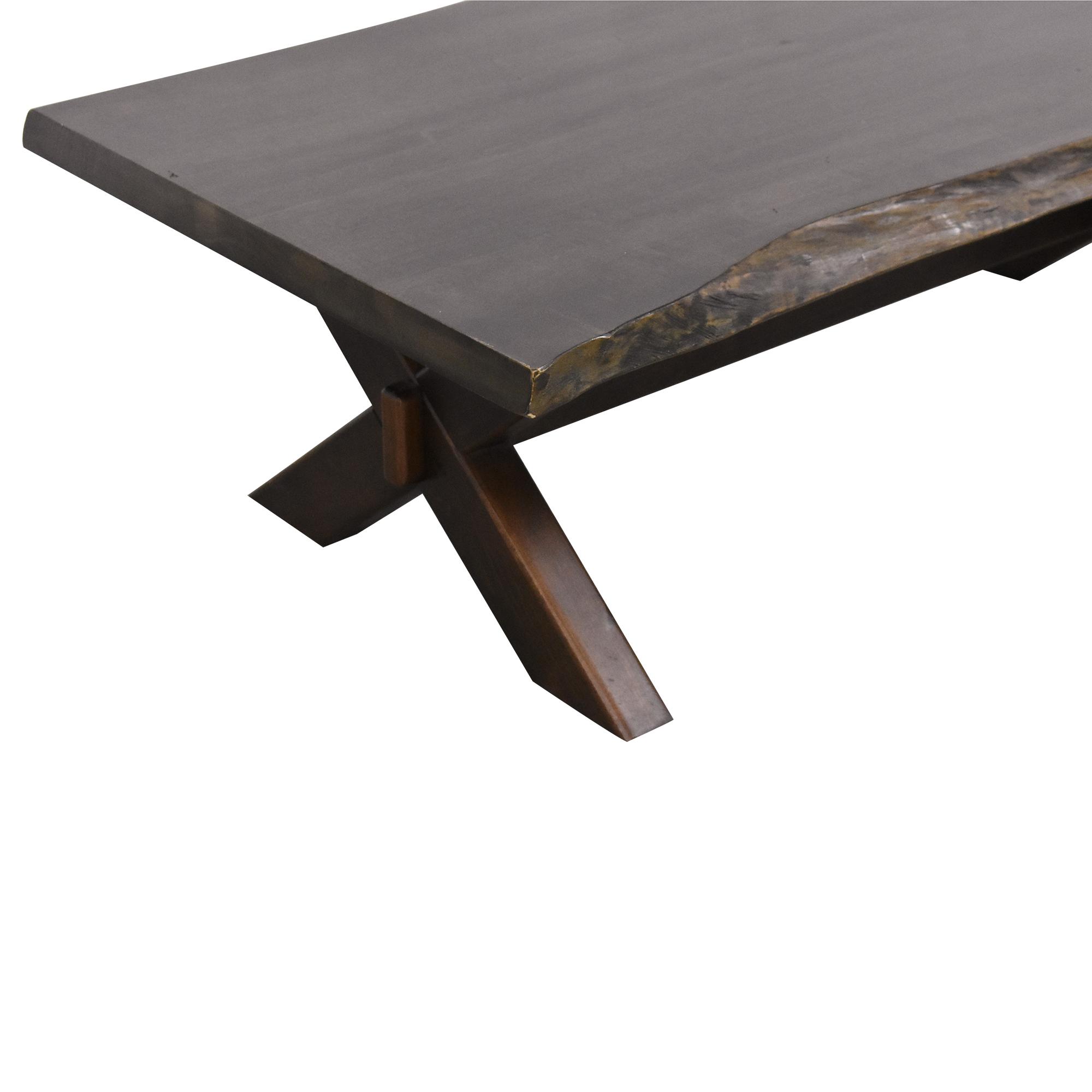 buy Bassett Furniture Crossbuck Live Edge Cocktail Table Bassett Furniture Tables