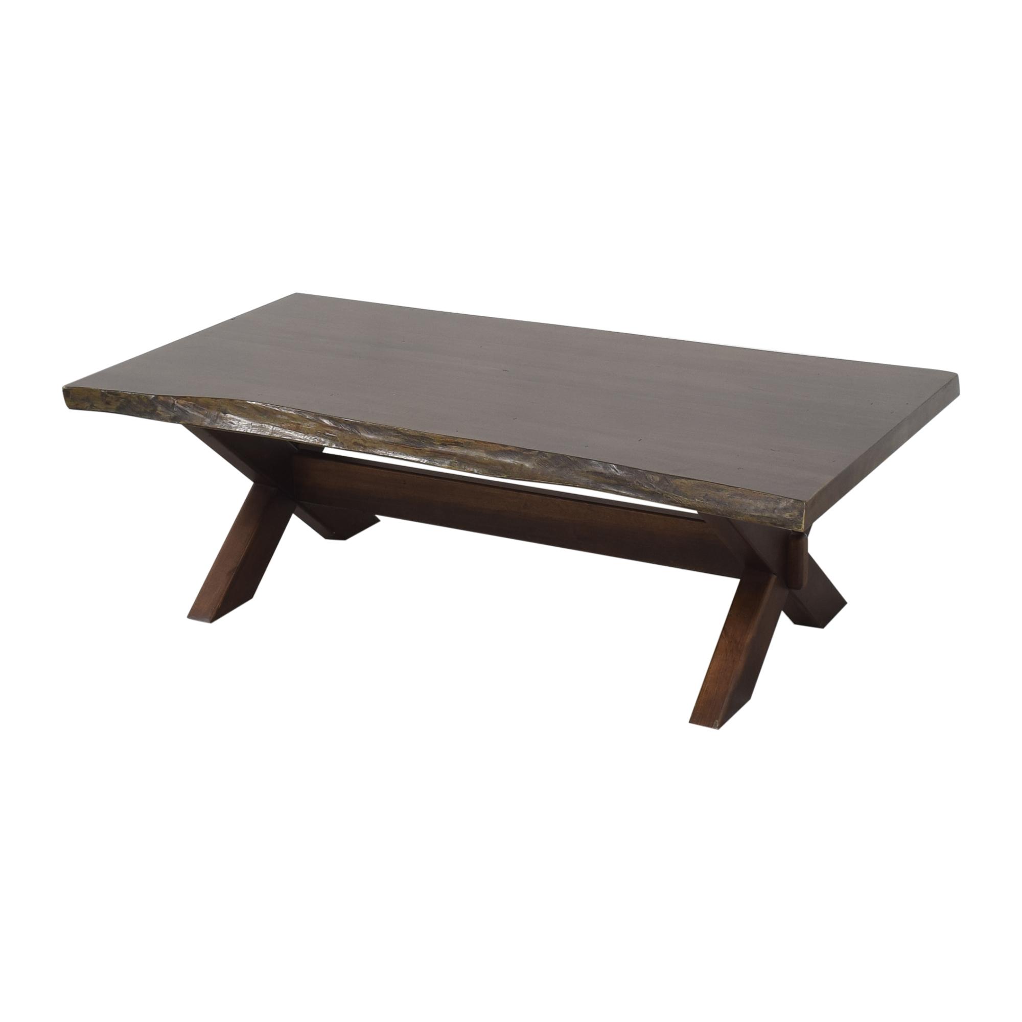 Bassett Furniture Bassett Furniture Crossbuck Live Edge Cocktail Table Tables