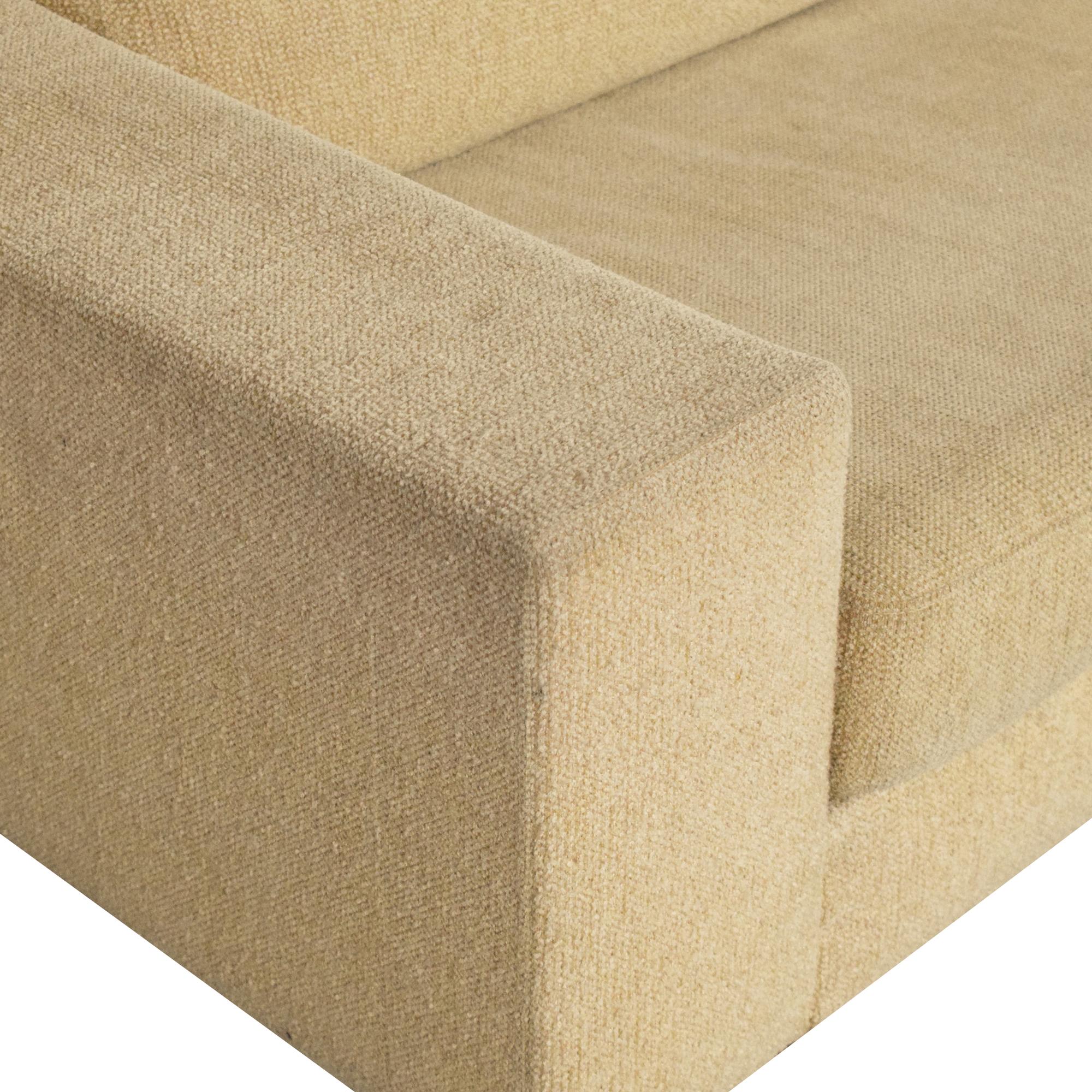 Modern Two Cushion Sofa