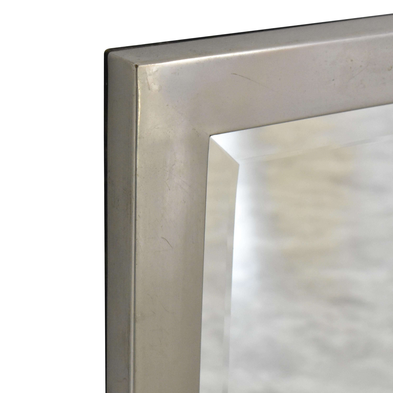 Restoration Hardware Restoration Hardware Framed Mirror silver