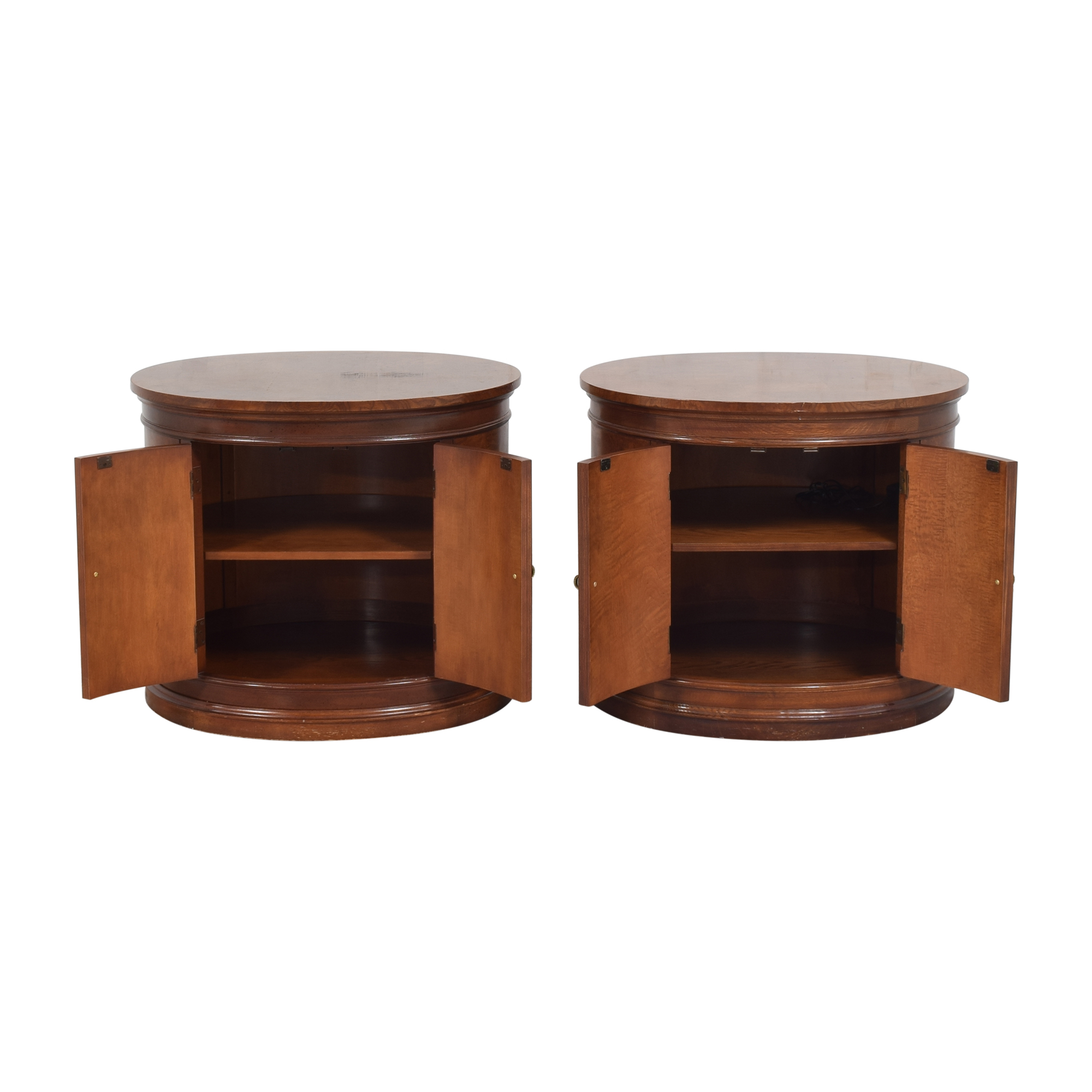 Hickory White Oval Nightstands sale