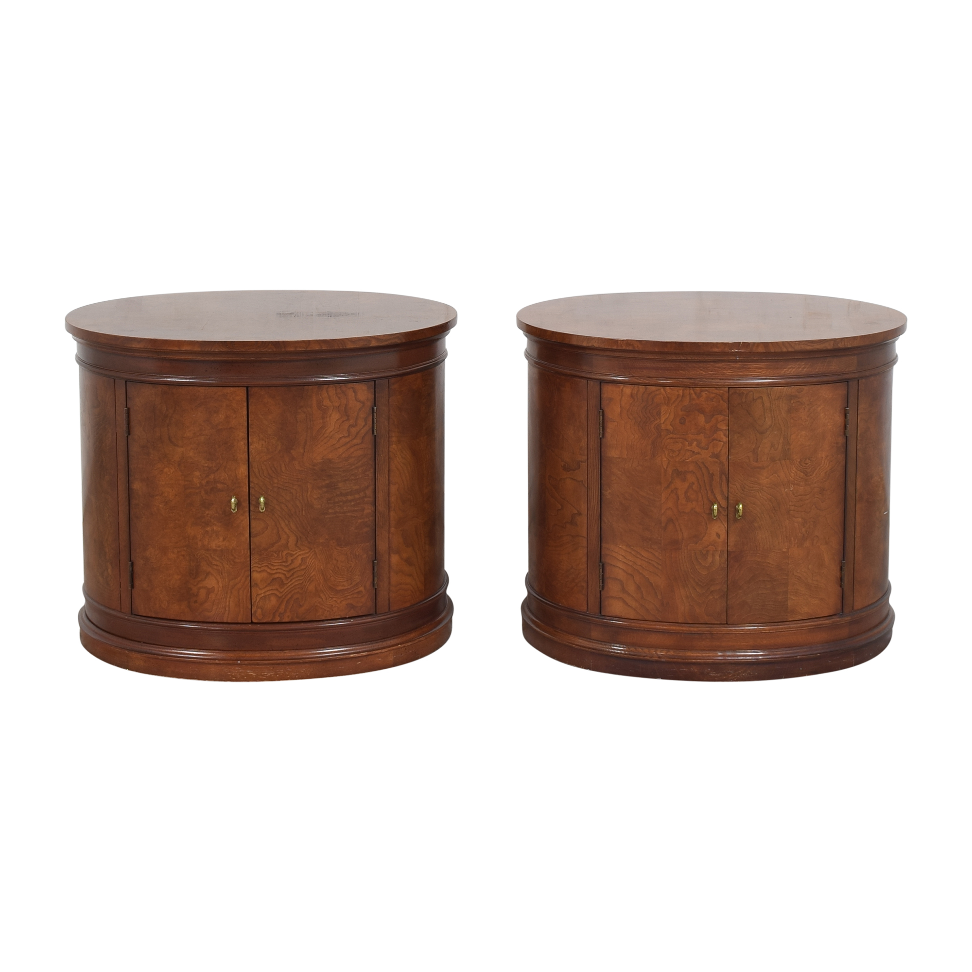 Hickory White Hickory White Oval Nightstands Tables