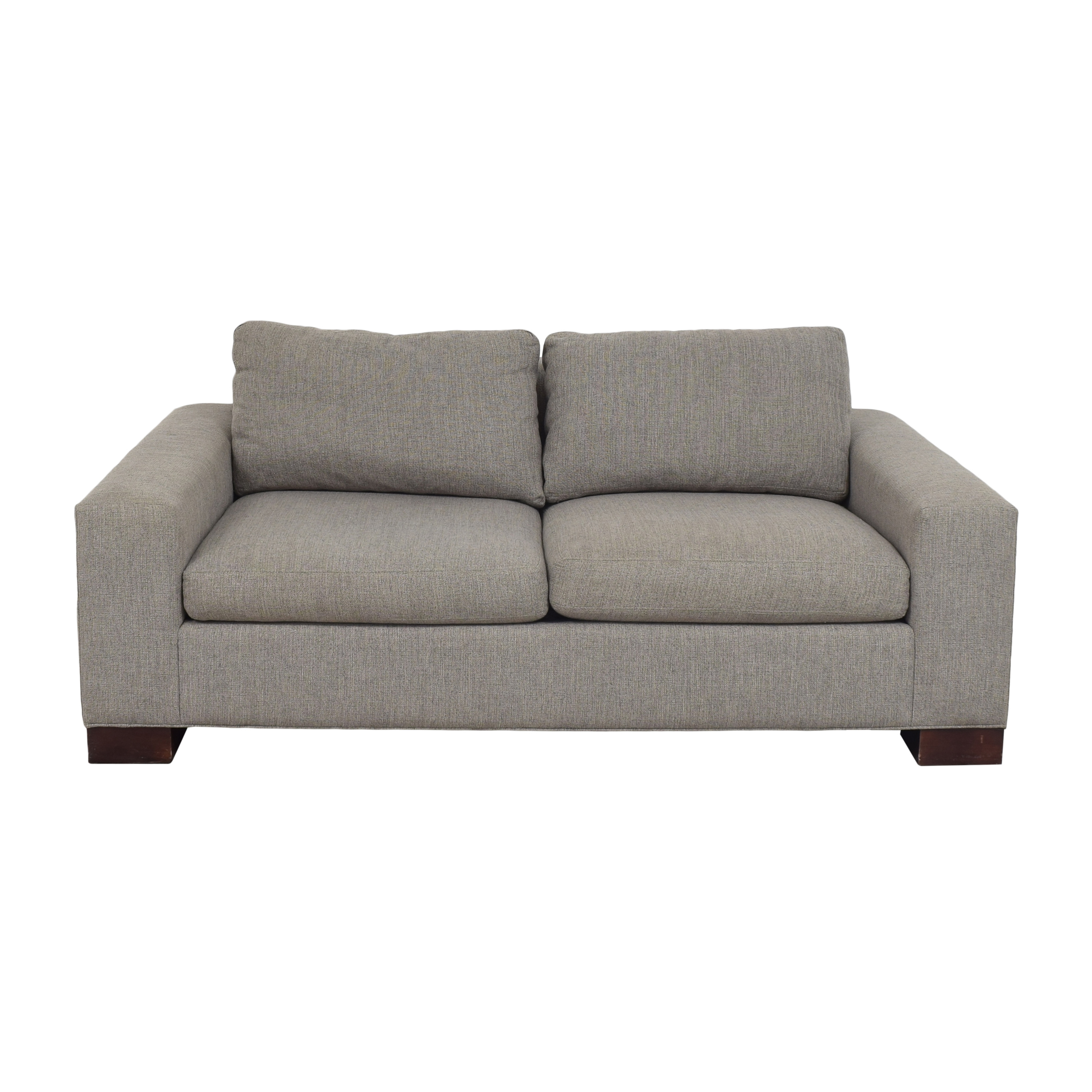 Crate & Barrel Crate & Barrel Two Cushion Sofa dimensions