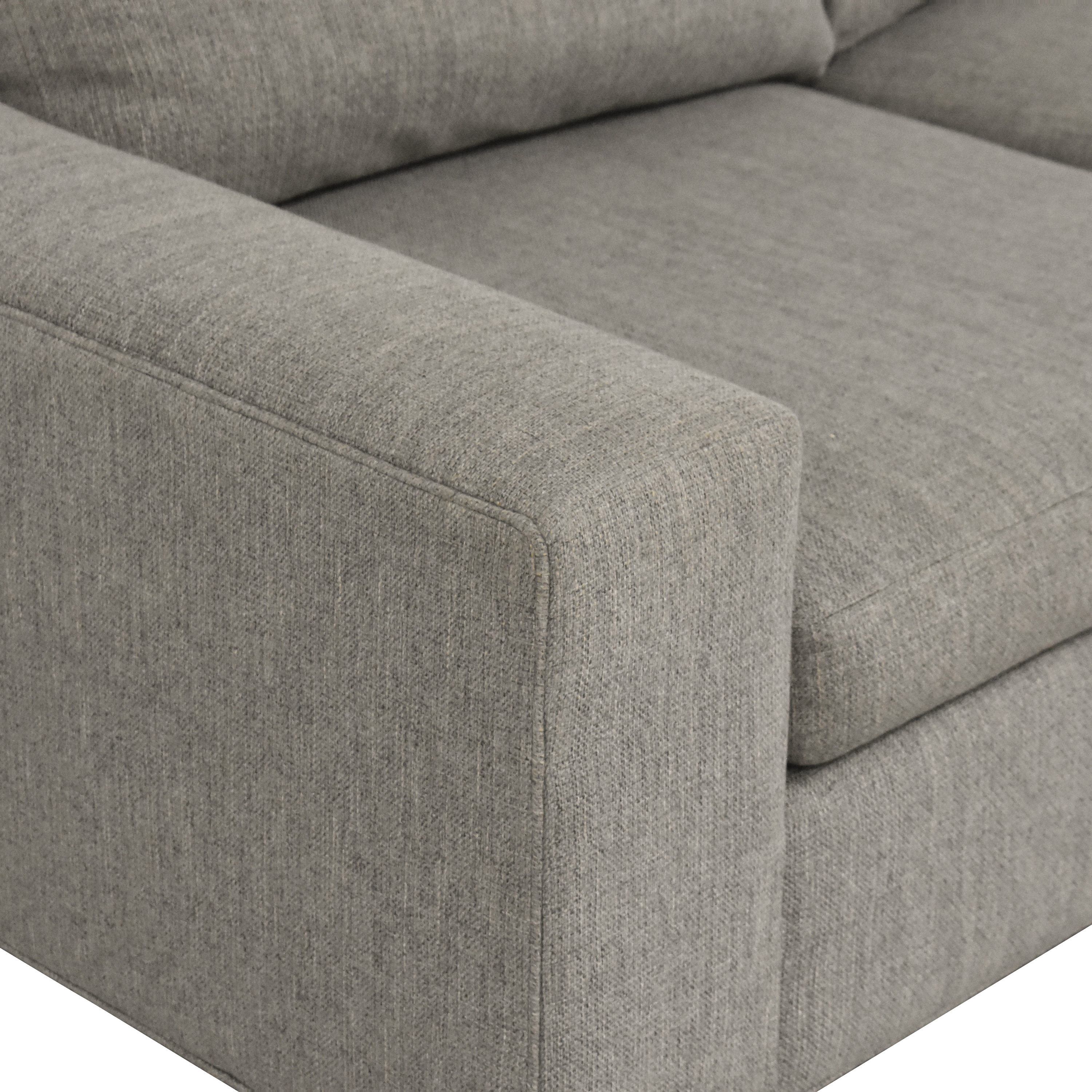 Crate & Barrel Crate & Barrel Two Cushion Sofa for sale