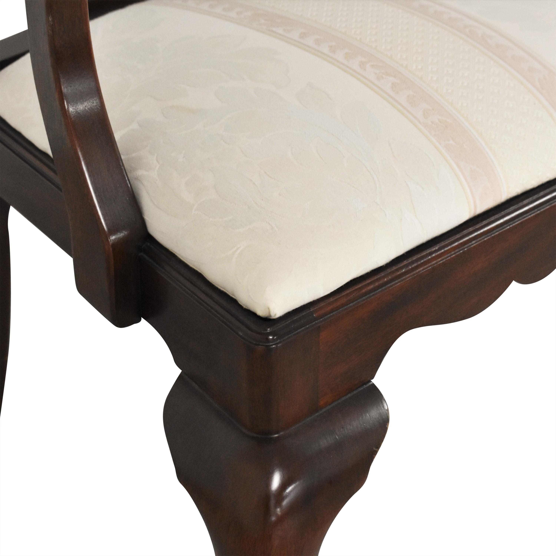 Henkel Harris Henkel Harris Queen Anne Dining Chairs brown & beige