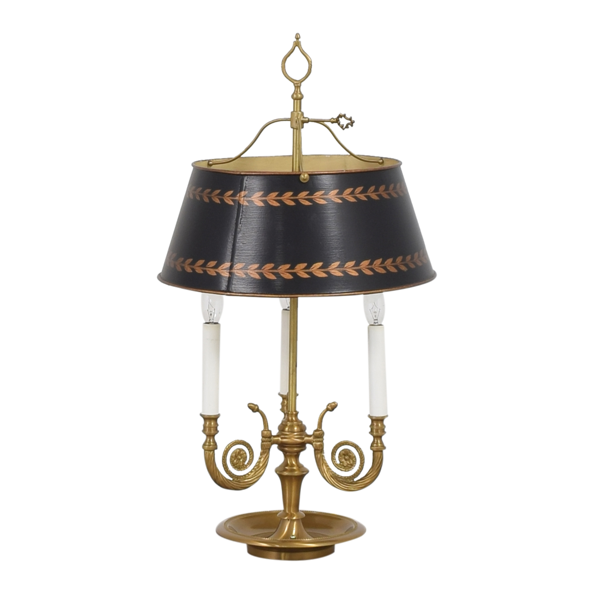 Vintage Triple Table Lamp with Adjustable Shade coupon