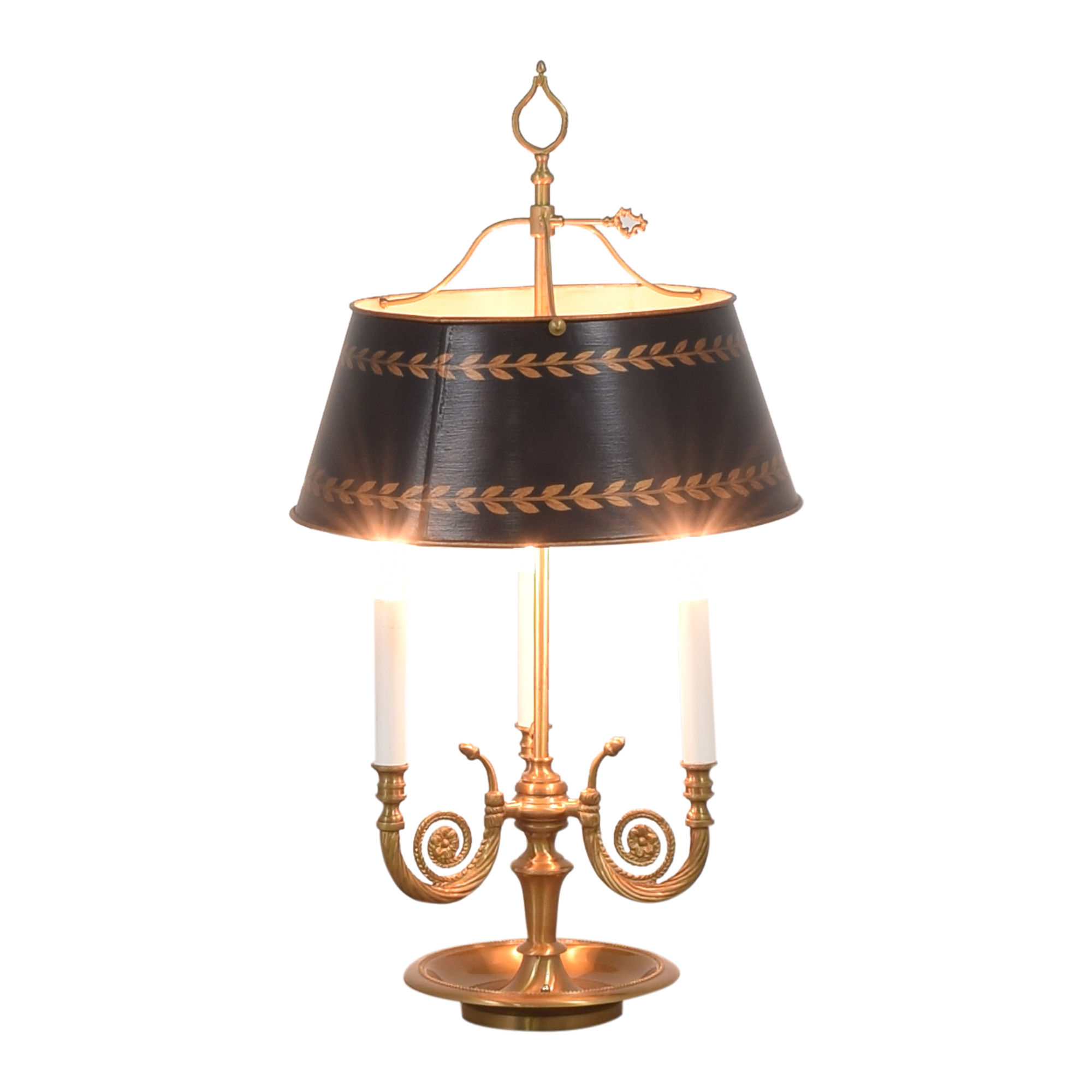 Vintage Triple Table Lamp with Adjustable Shade nyc