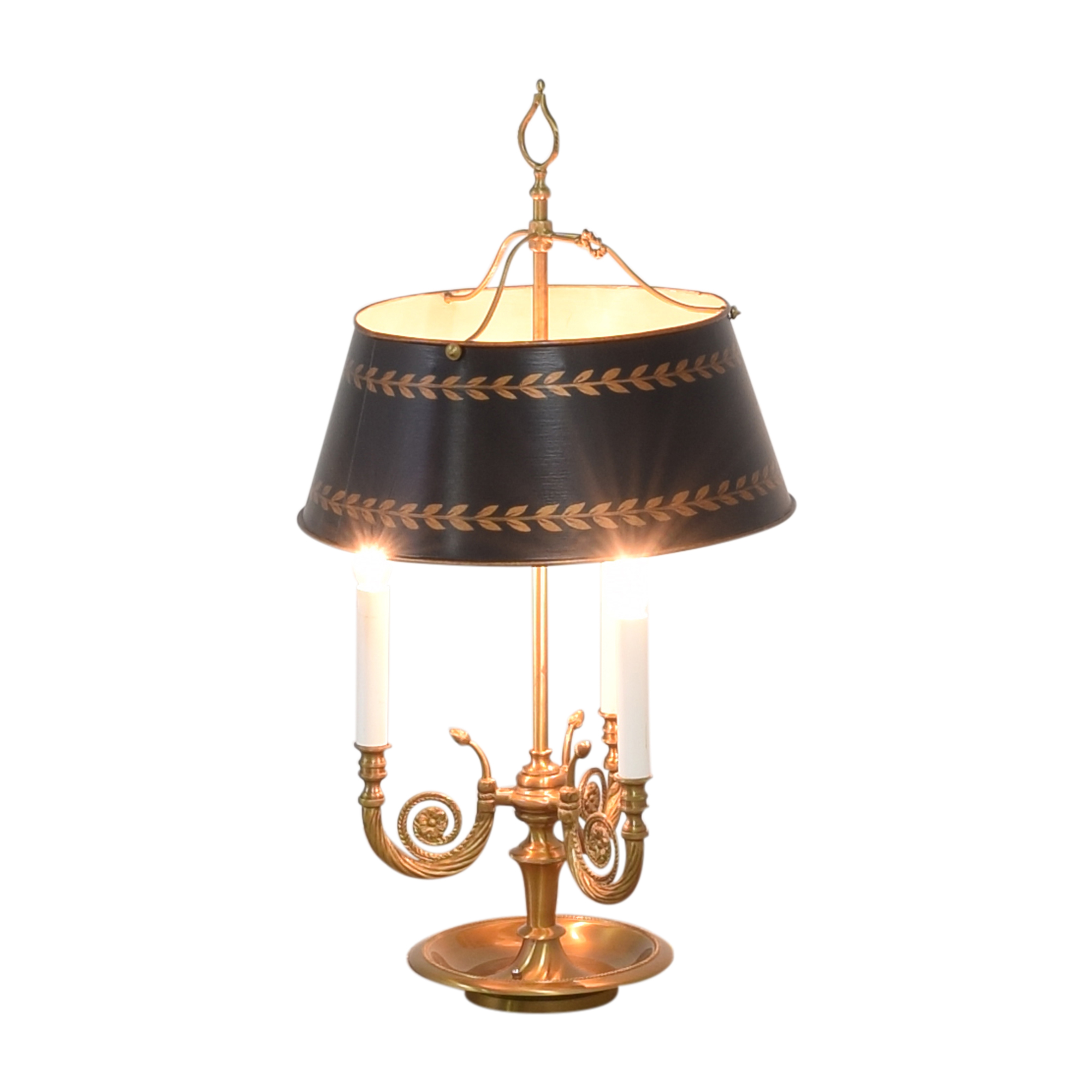 Vintage Triple Table Lamp with Adjustable Shade Lamps