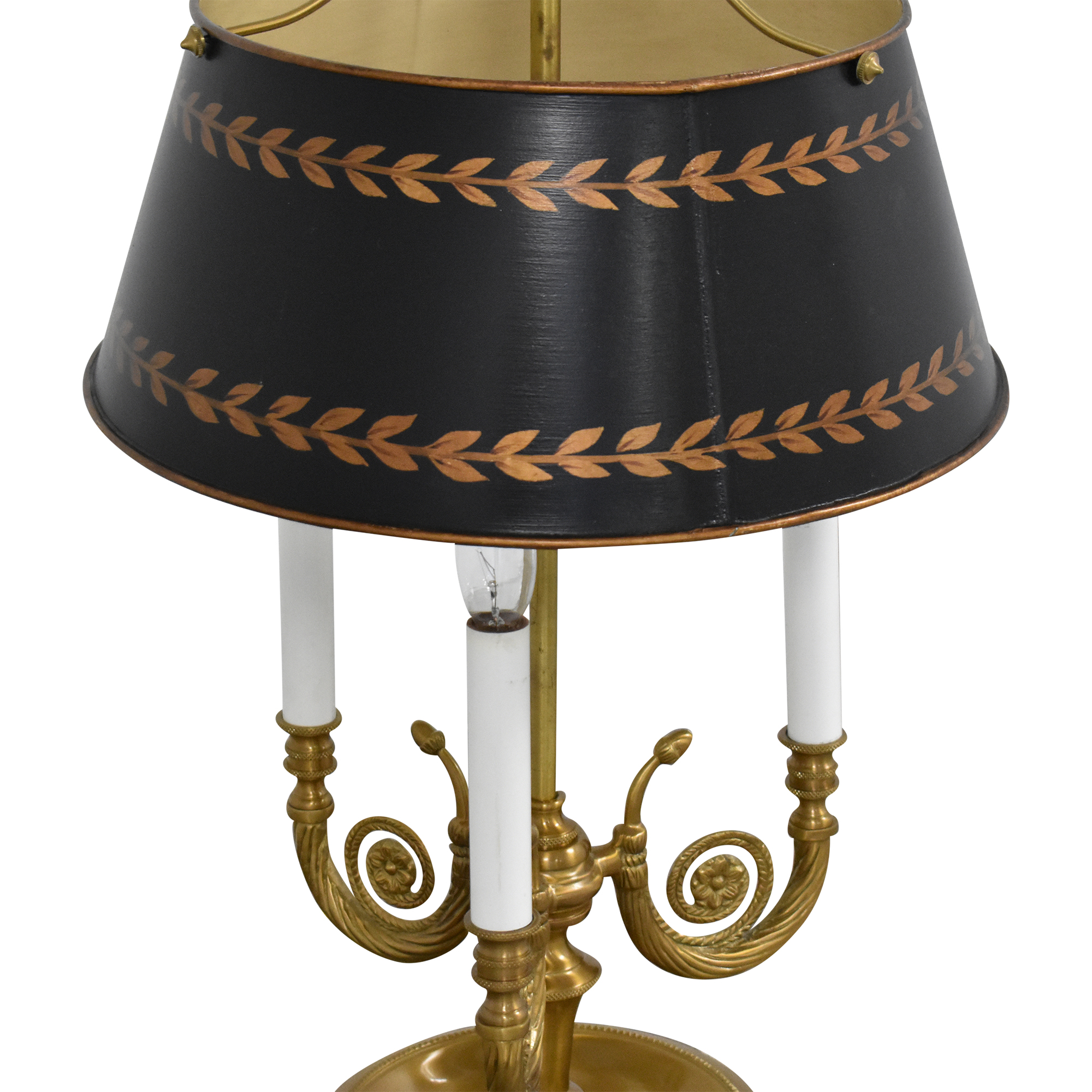 shop Vintage Triple Table Lamp with Adjustable Shade