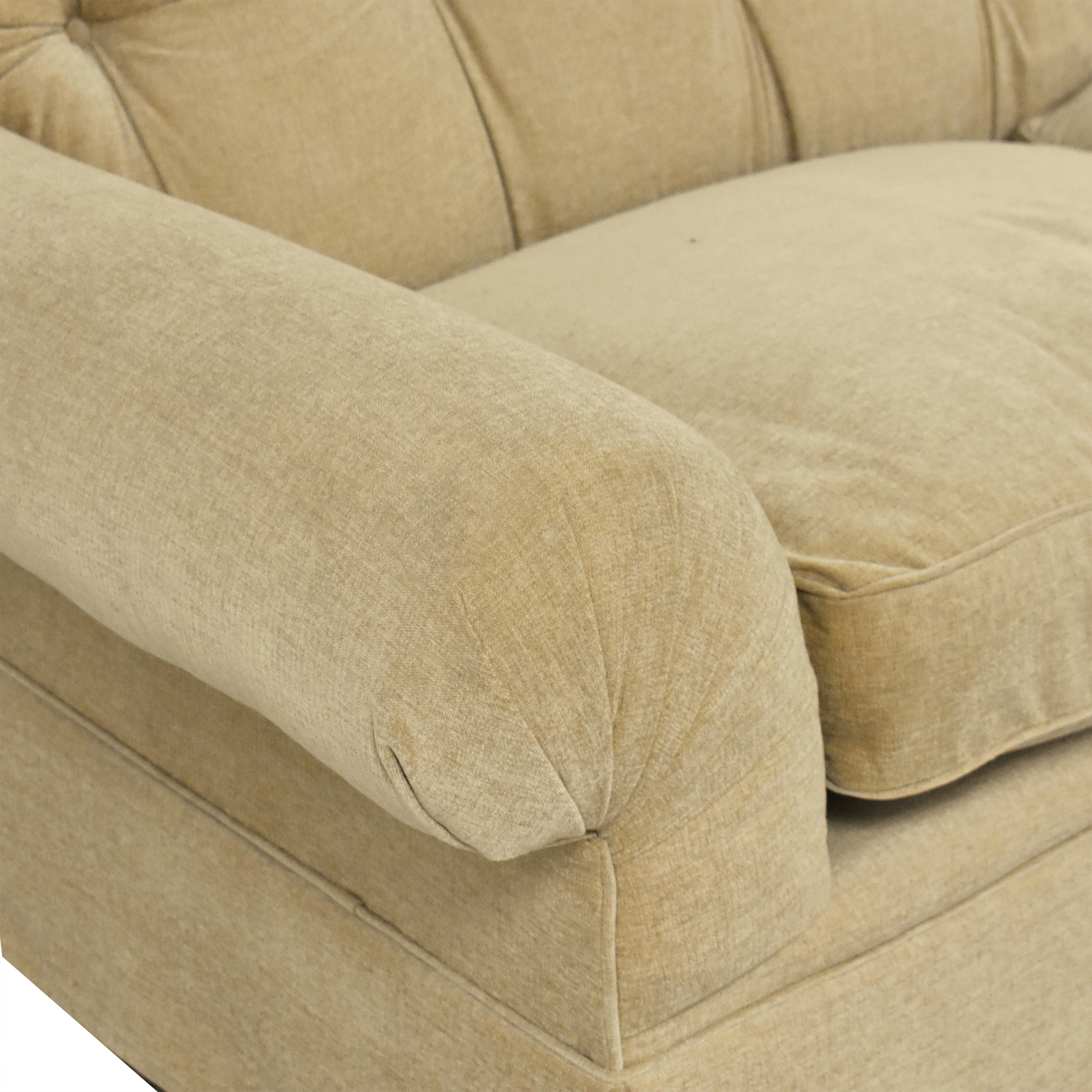 Tufted Two Cushion Sofa ct
