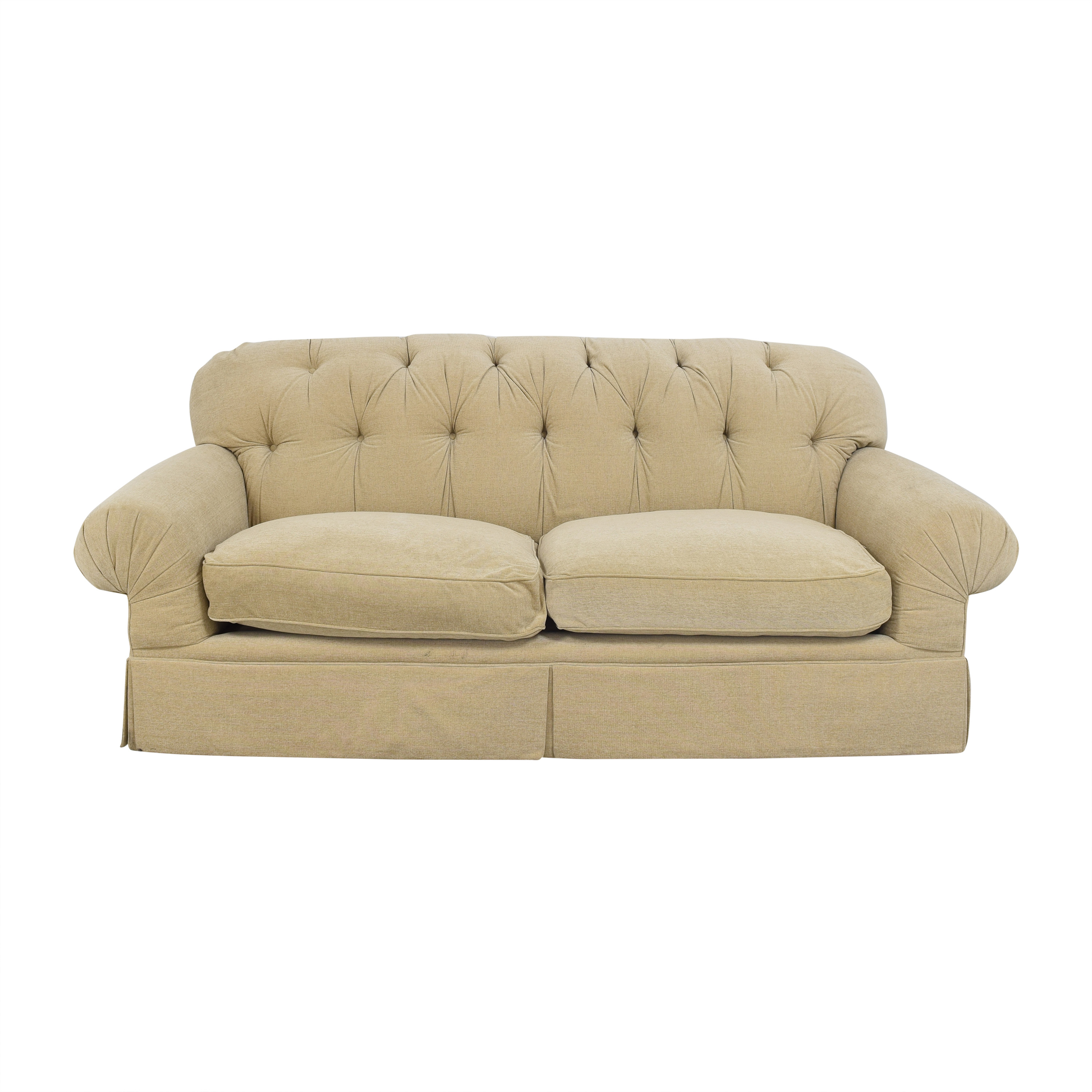 Tufted Two Cushion Sofa second hand