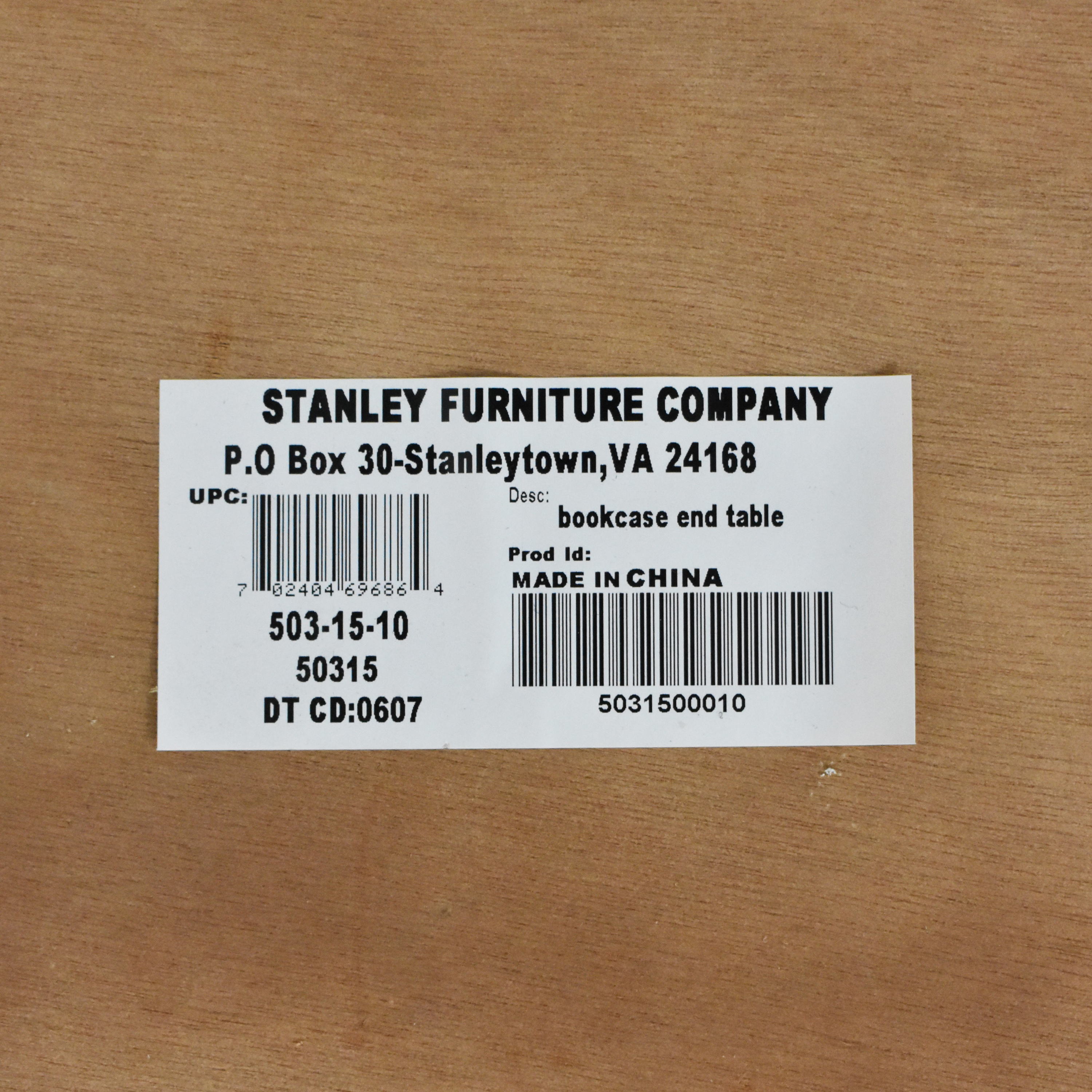 Stanley Furniture Stanley Furniture Bookcase End Table coupon
