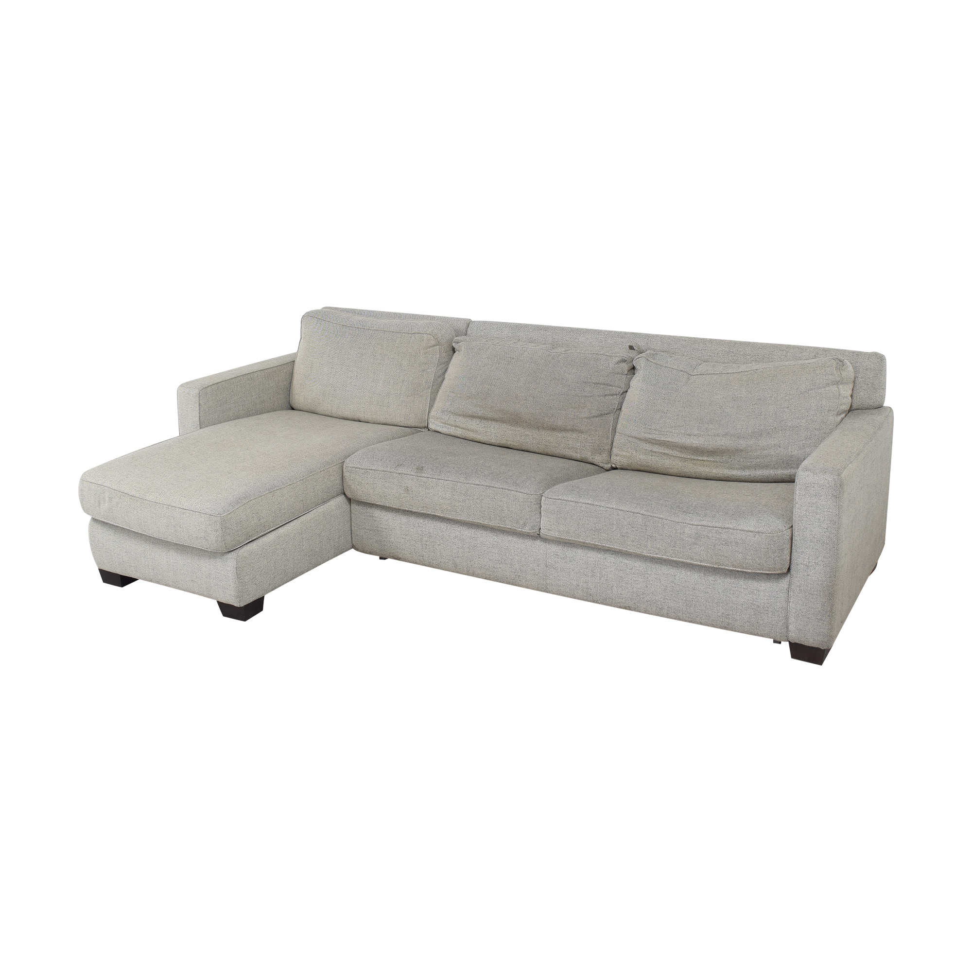 buy West Elm Henry Two Piece Full Sleeper Sectional with Storage West Elm Sofas
