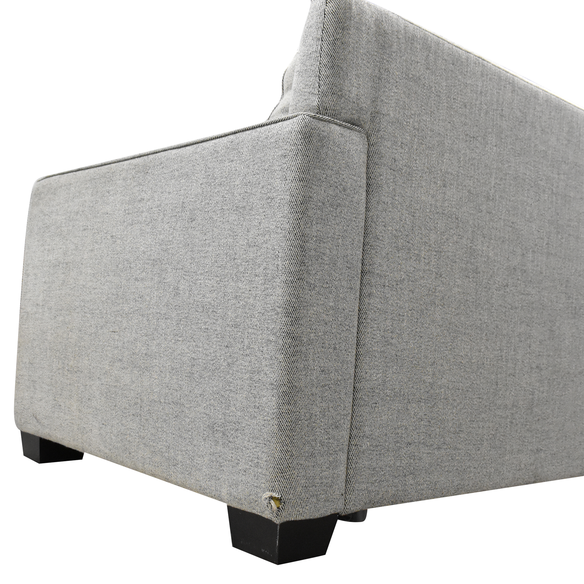 West Elm West Elm Henry Two Piece Full Sleeper Sectional with Storage pa