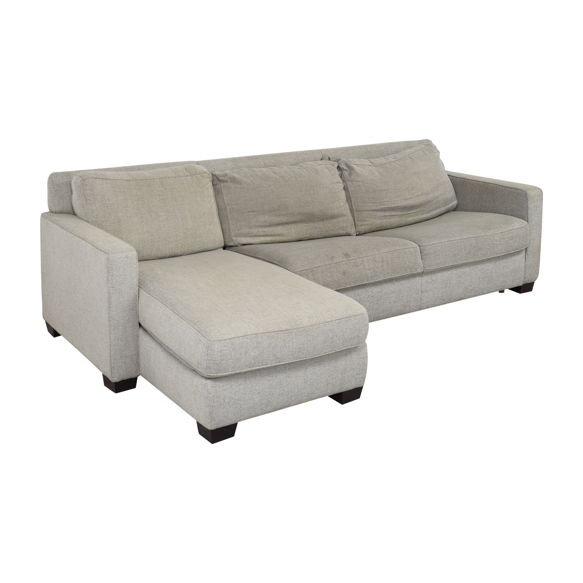 shop West Elm Henry Two Piece Full Sleeper Sectional with Storage West Elm Sectionals