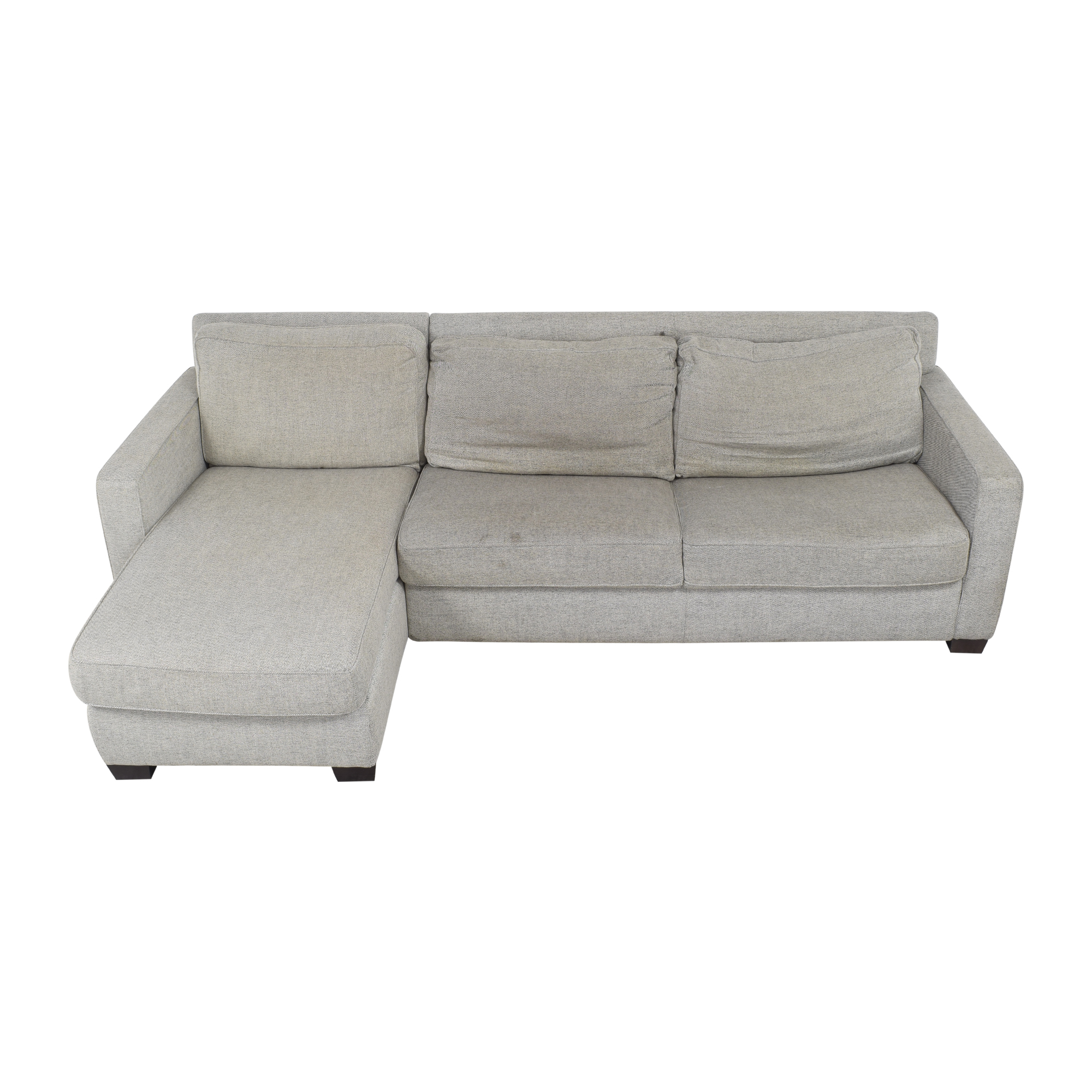 buy West Elm Henry Two Piece Full Sleeper Sectional with Storage West Elm Sectionals