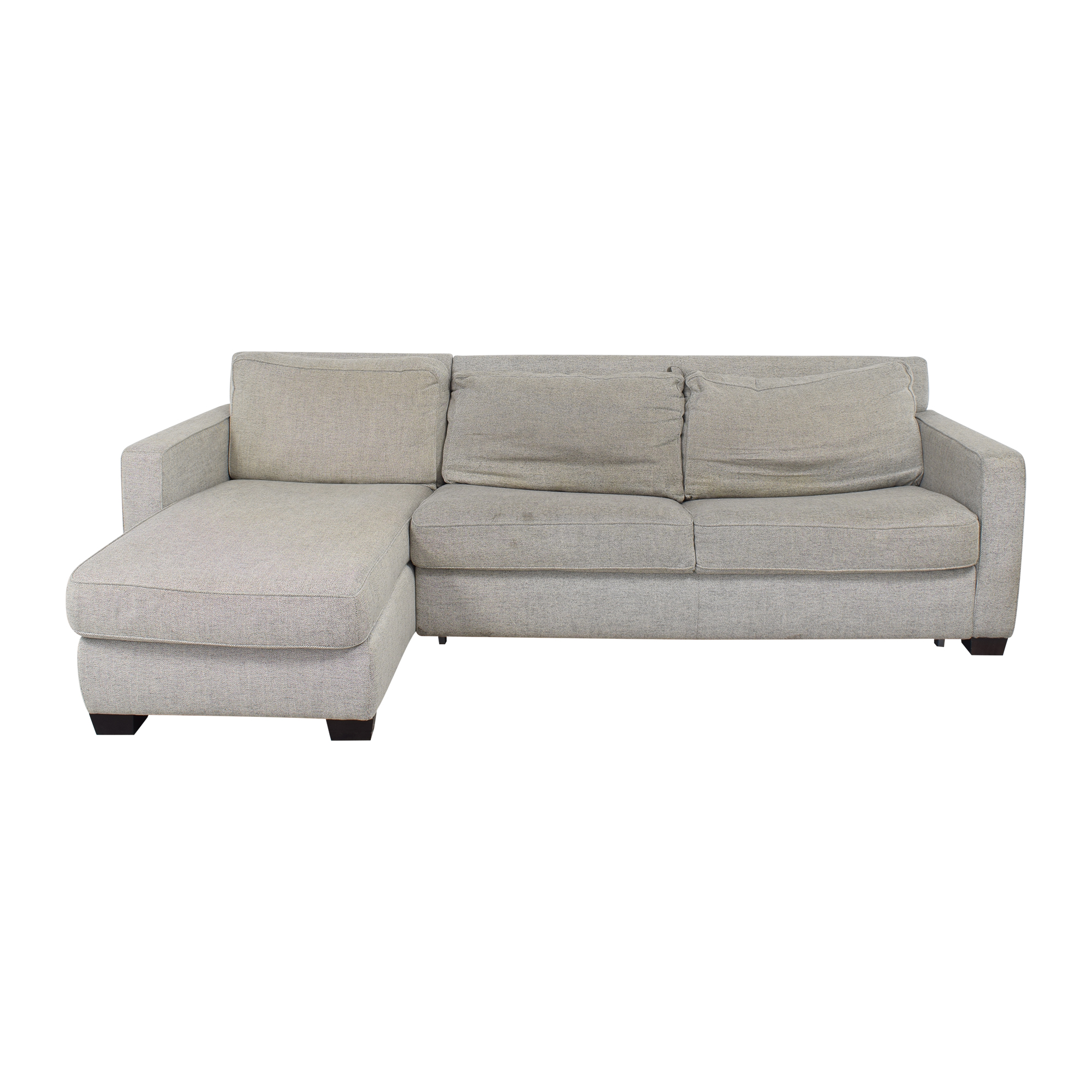 shop West Elm Henry Two Piece Full Sleeper Sectional with Storage West Elm