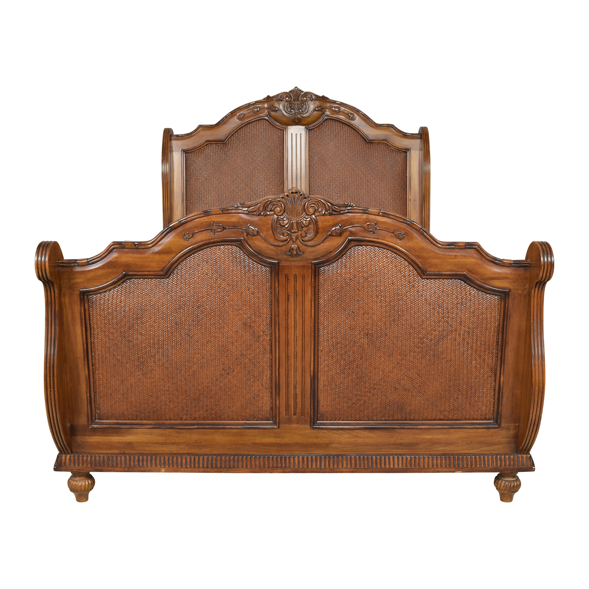Laura Ashley Laura Ashley Carved Sleigh Queen Bed on sale