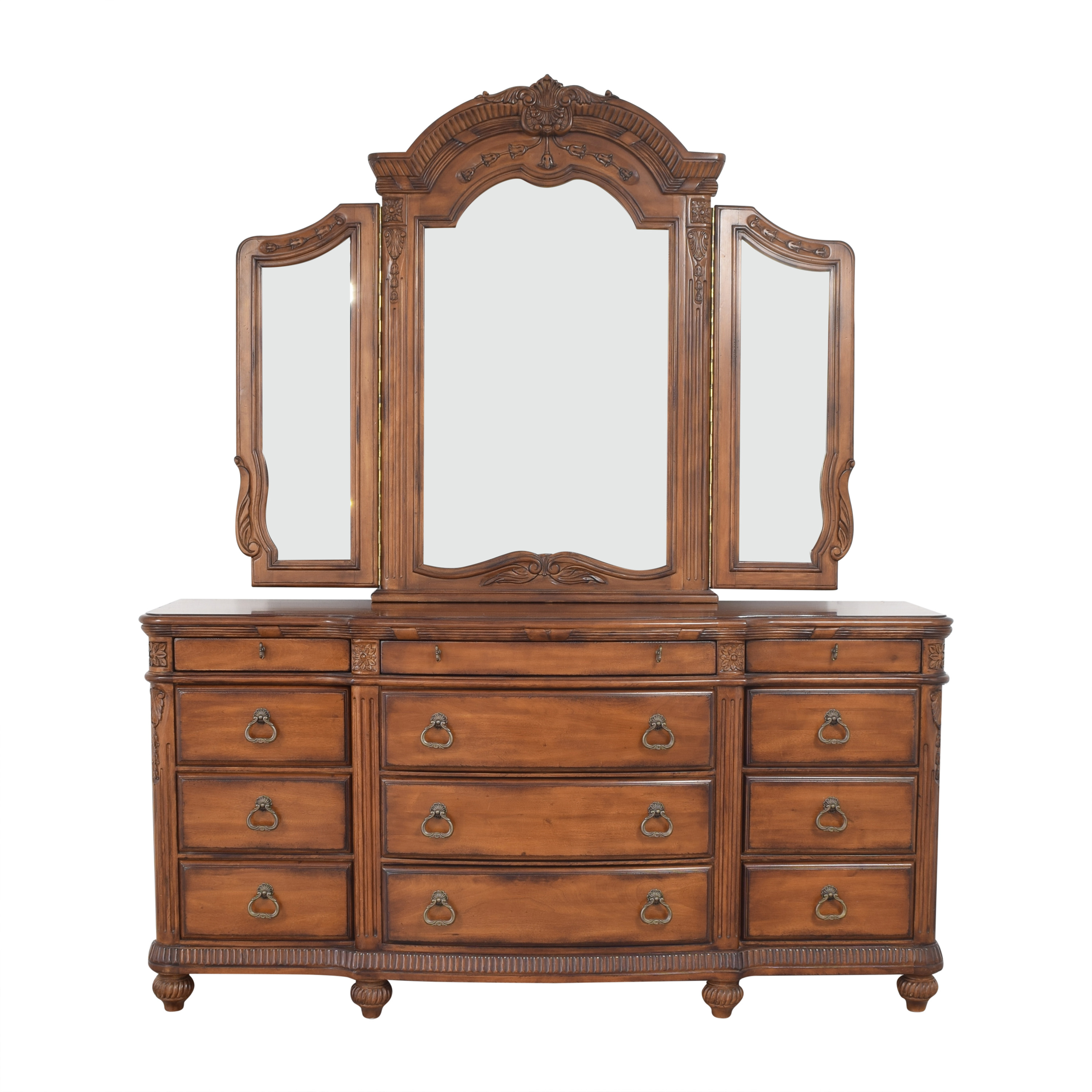 Laura Ashley Laura Ashley Home Triple Dresser and Mirror for sale