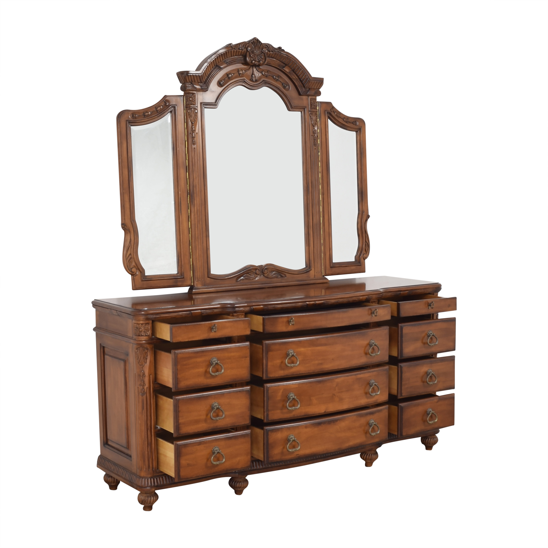 Laura Ashley Laura Ashley Home Triple Dresser and Mirror pa