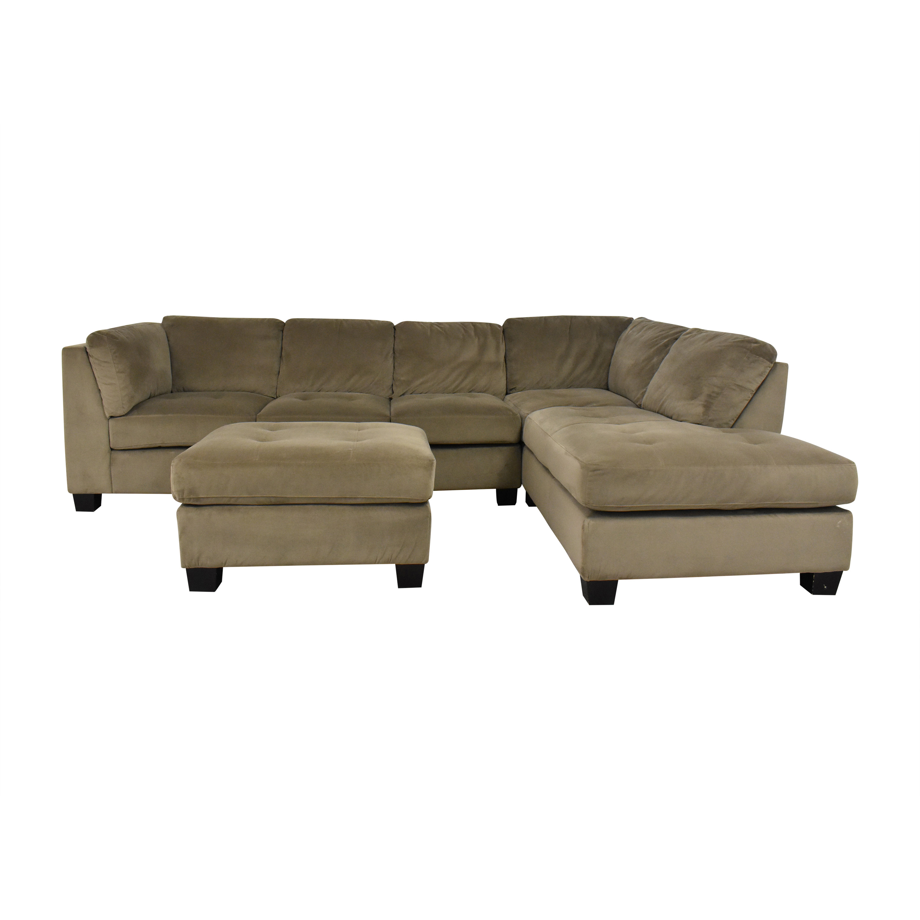 shop Costco Costco Tufted Chaise Sectional with Ottoman online