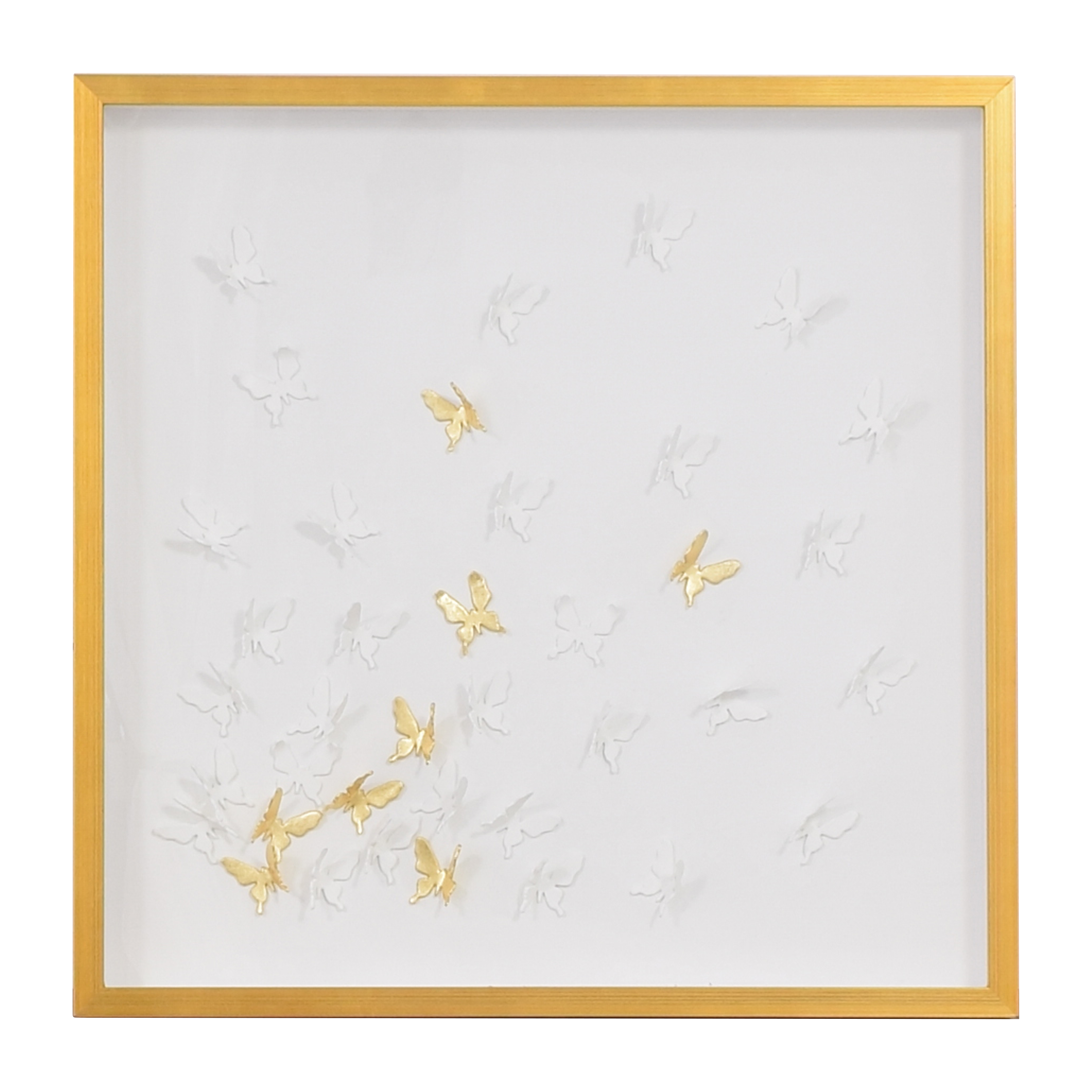Modsy Modsy Framed Golden Butterfly III Wall Art used