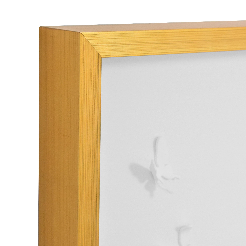 shop Modsy Framed Golden Butterfly III Wall Art Modsy Wall Art