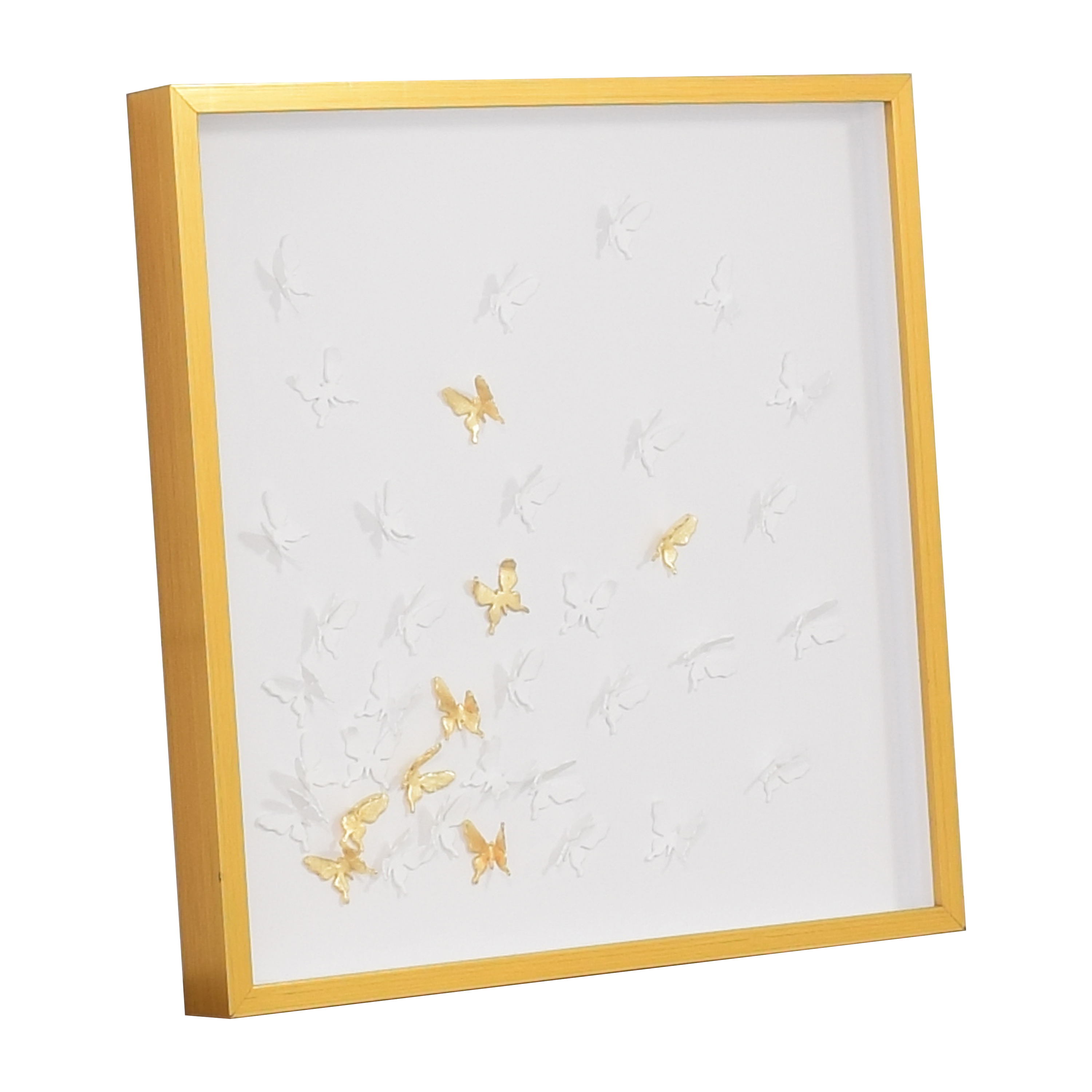 Modsy Framed Golden Butterfly III Wall Art sale