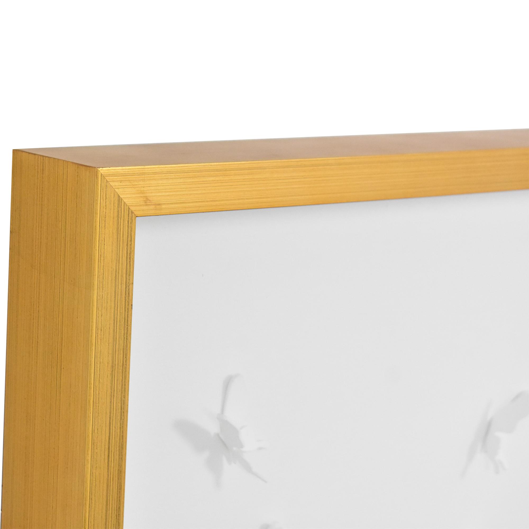 shop Modsy Modsy Framed Golden Butterfly III Wall Art online