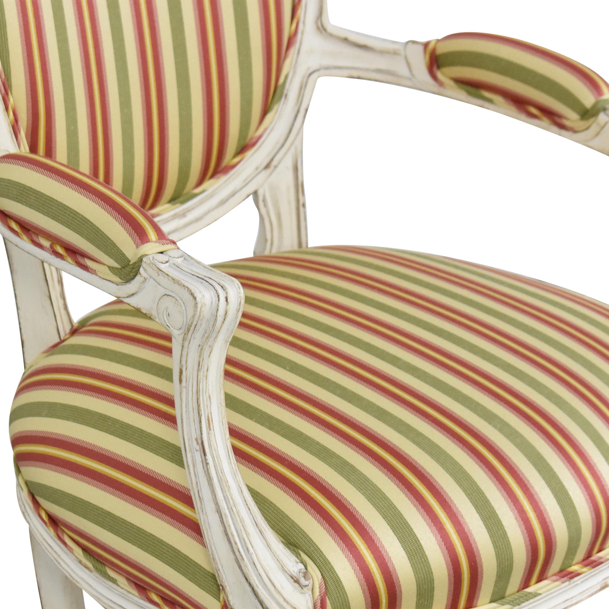 Pearson Pearson Queen Anne Striped Chair Accent Chairs