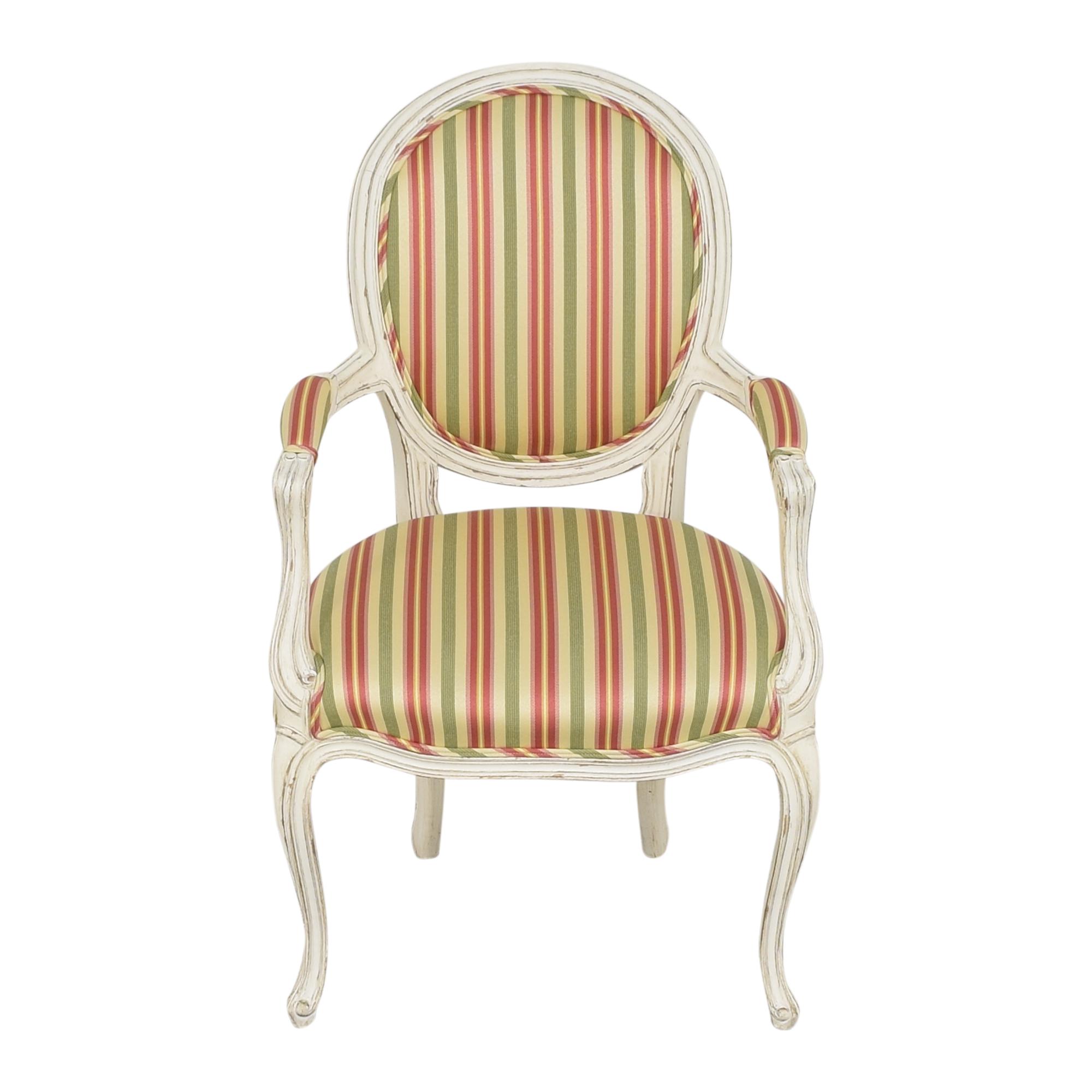 Pearson Queen Anne Striped Chair / Chairs