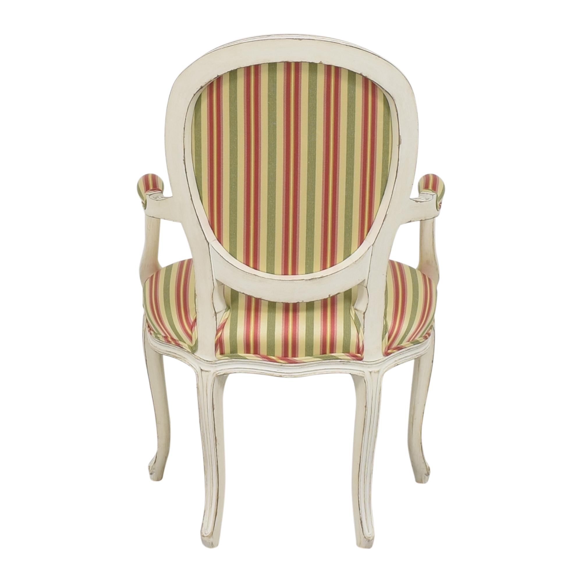 Pearson Pearson Queen Anne Striped Chair second hand