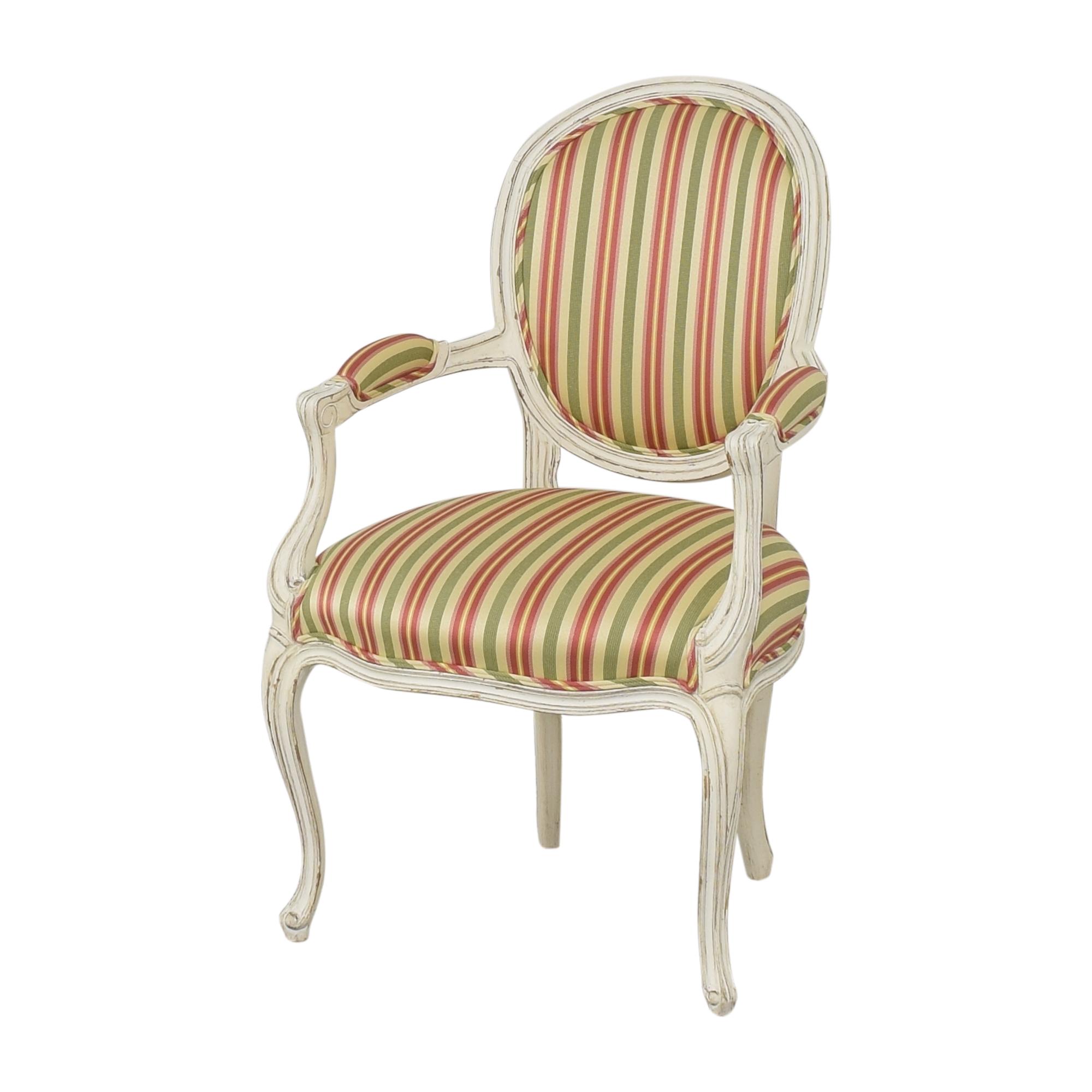 Pearson Pearson Queen Anne Striped Chair nyc