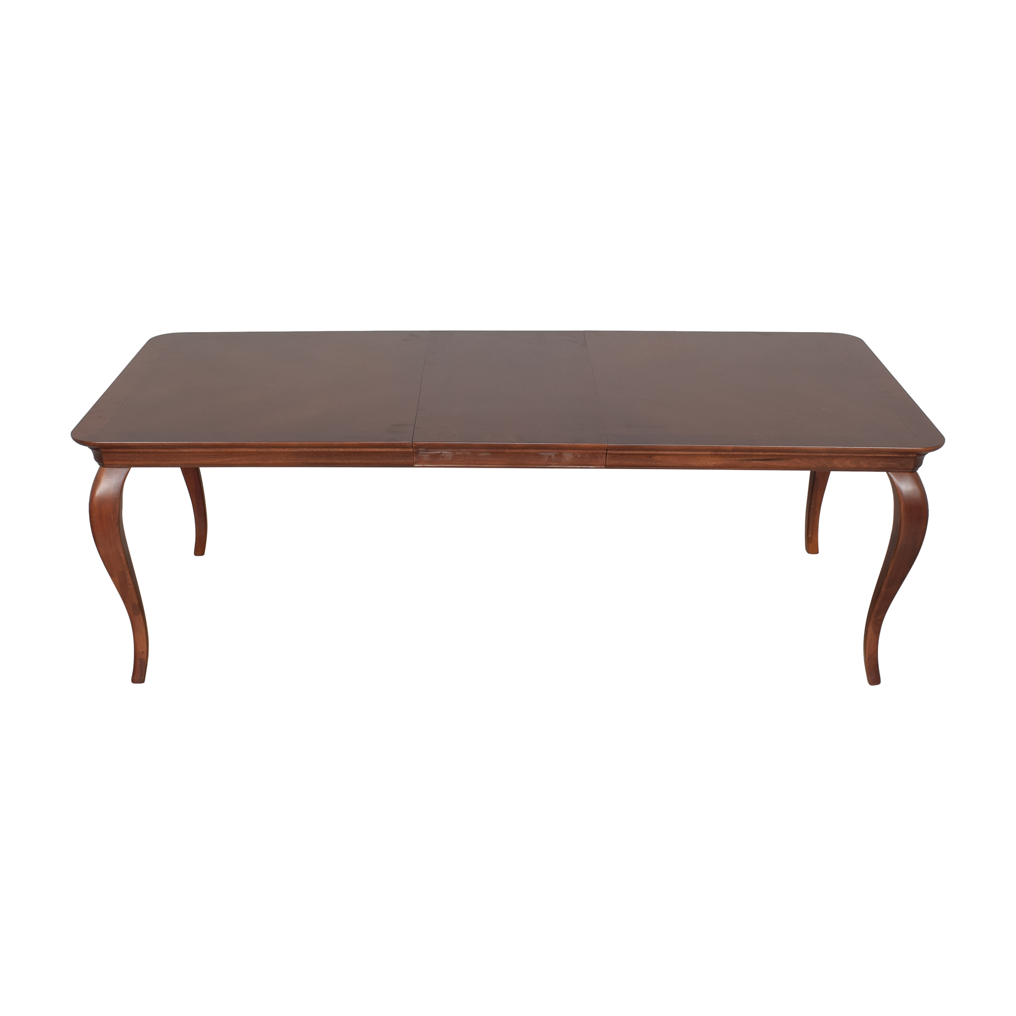 Thomasville Thomasville Extendable Cabriole Dining Table brown