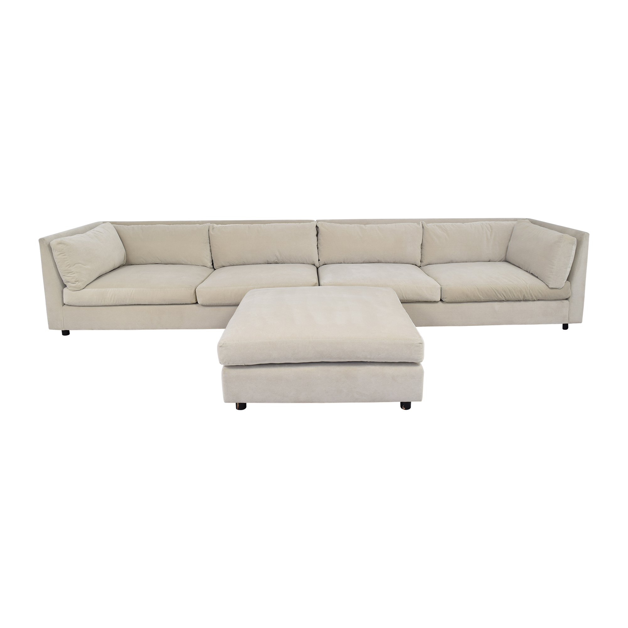 shop Mitchell Gold + Bob Williams Sectional with Ottoman Mitchell Gold + Bob Williams