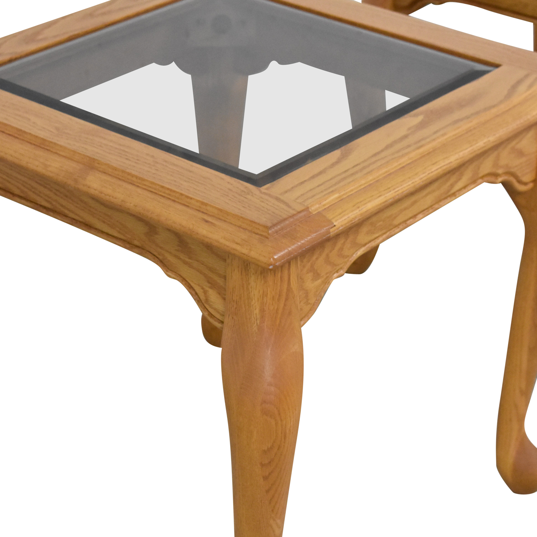 Heirloom Furniture Heirloom Furniture Square End Tables brown