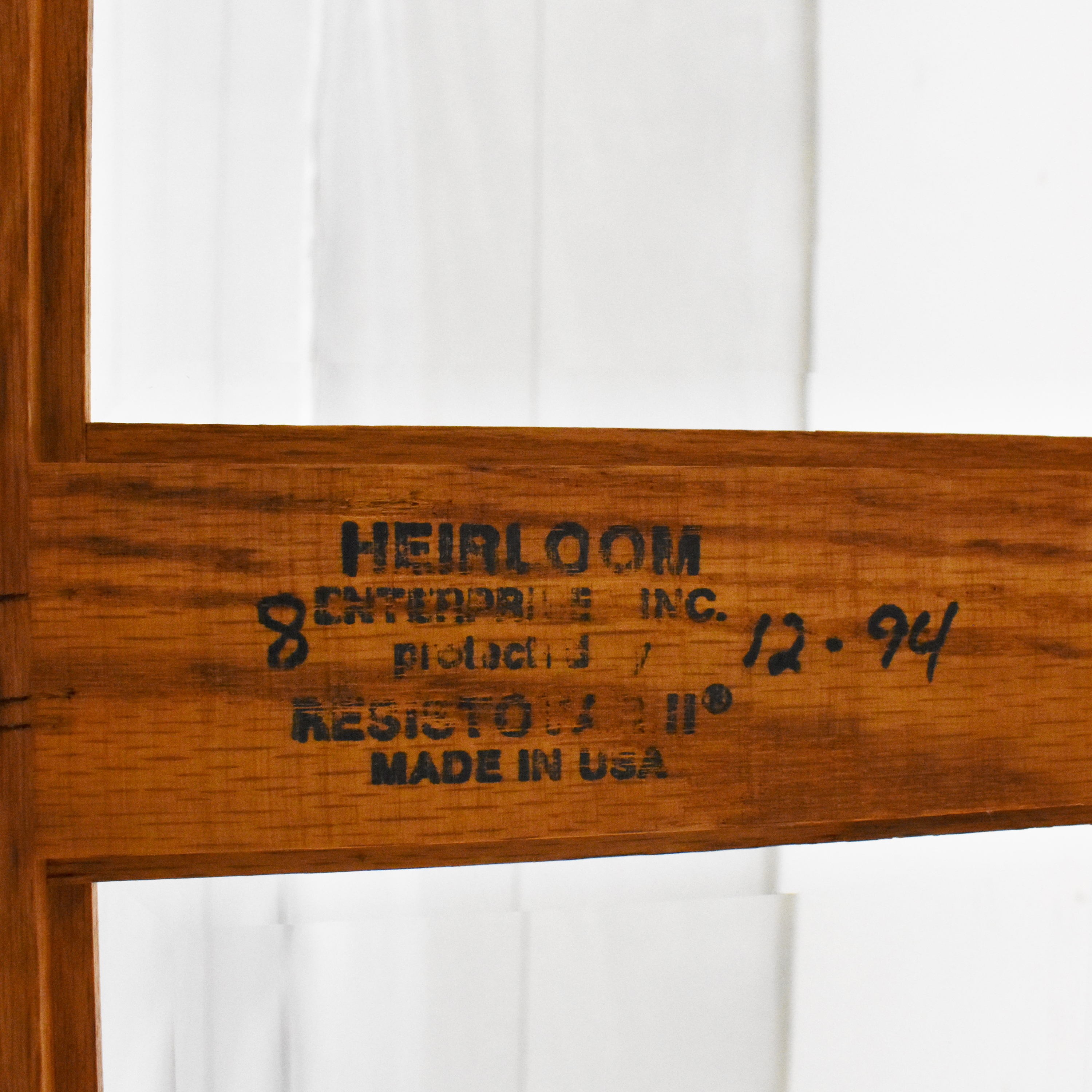 Heirloom Furniture Paneled Console Table / Accent Tables