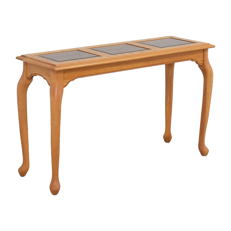 Heirloom Furniture Paneled Console Table Heirloom Furniture