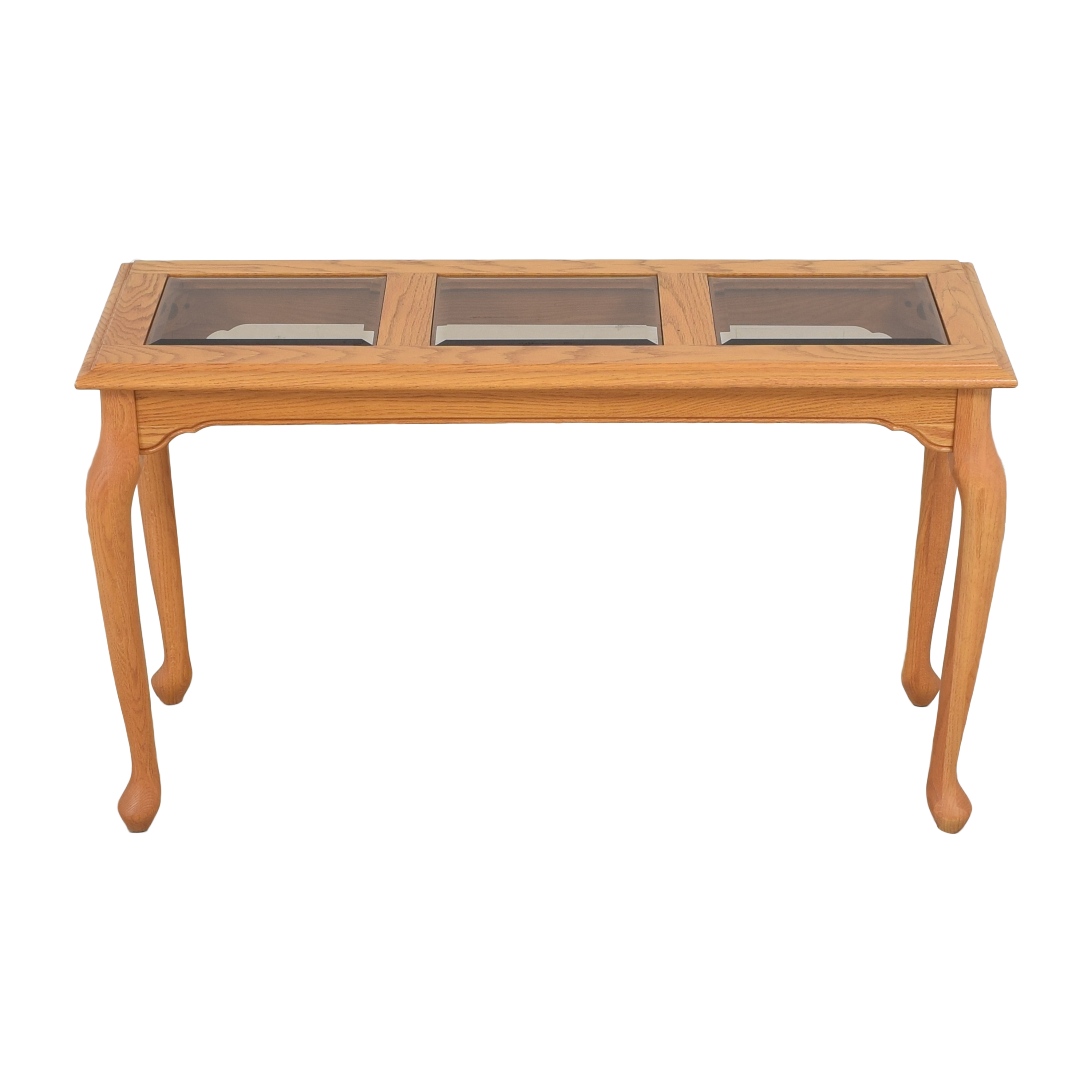 shop Heirloom Furniture Paneled Console Table Heirloom Furniture Tables