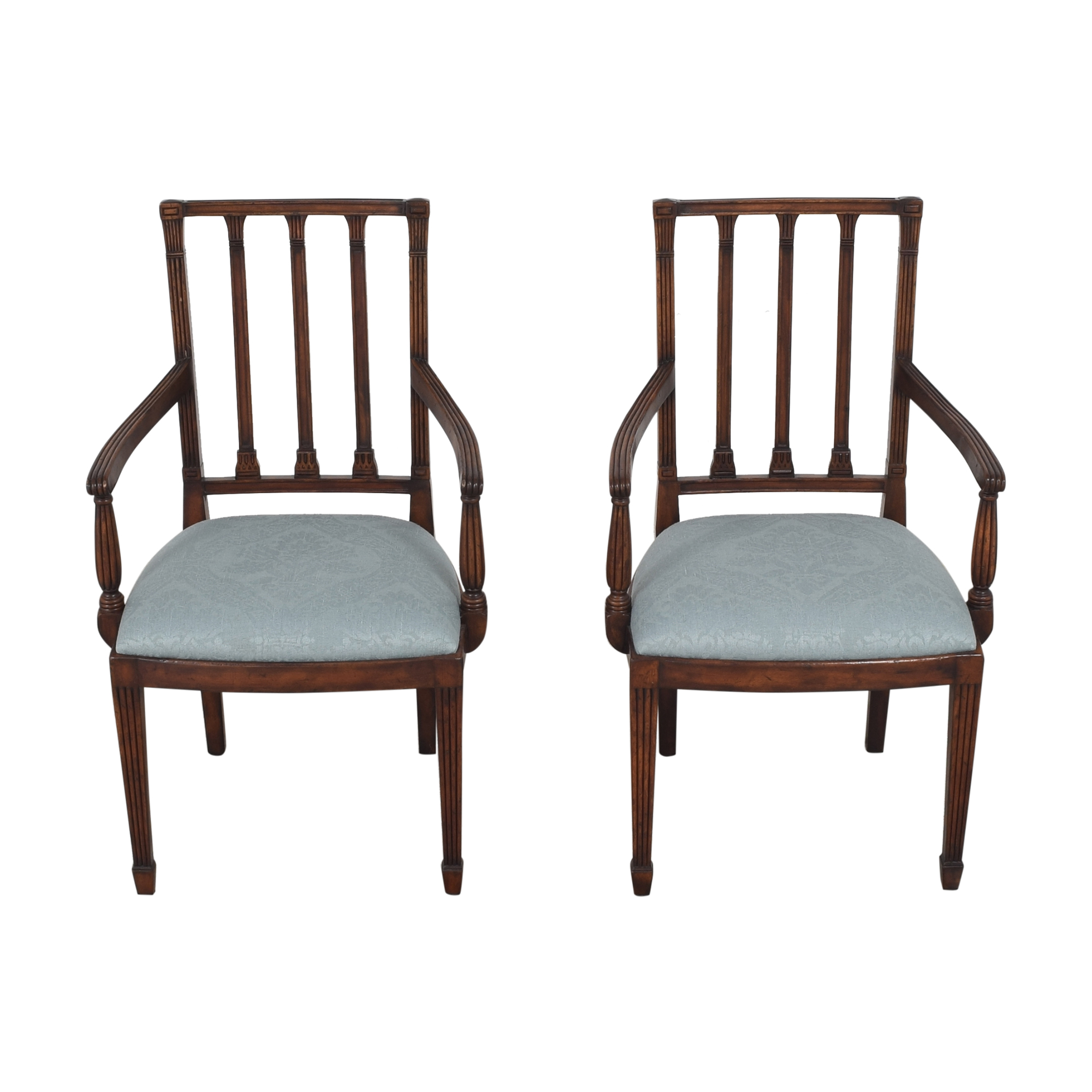 English Country Home English Country Home Upholstered Dining Arm Chairs coupon