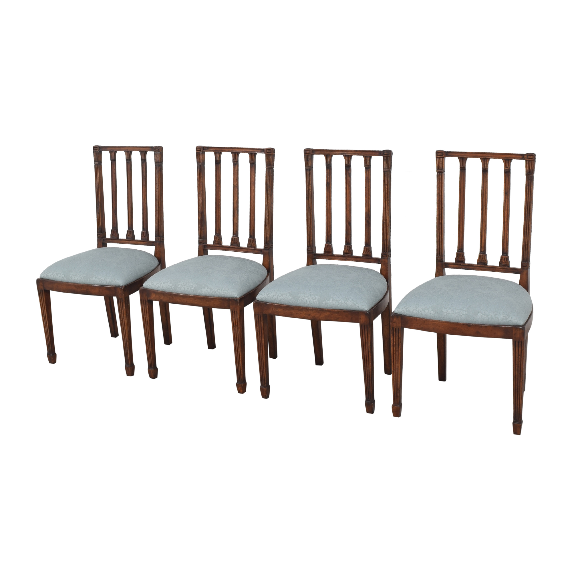 English Country Home English Country Home Upholstered Dining Chairs discount